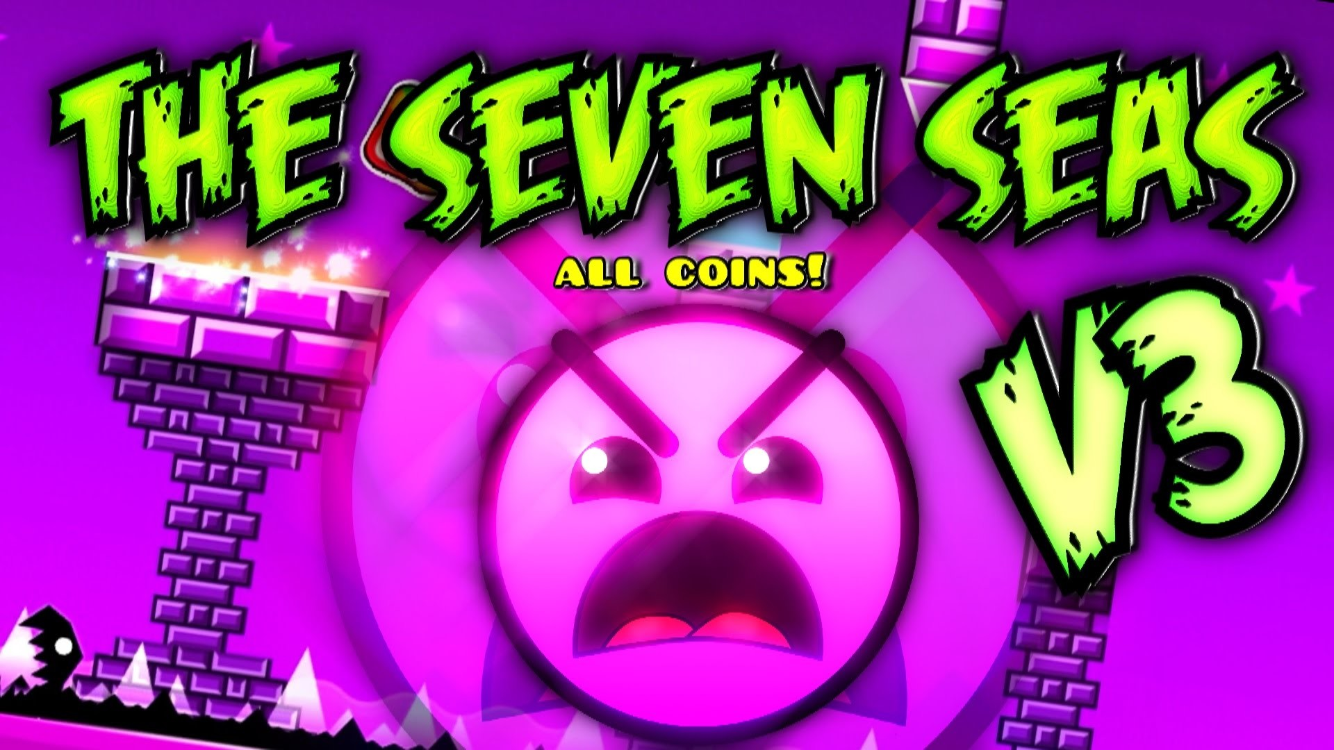 Geometry Dash – The Seven Seas V3 – 100% Completed (All 3 Coins) – YouTube