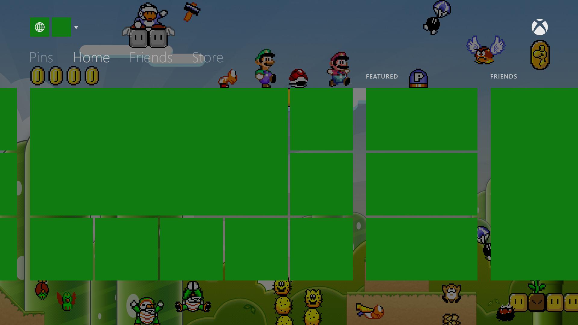 Xbox One Mario Background Concept