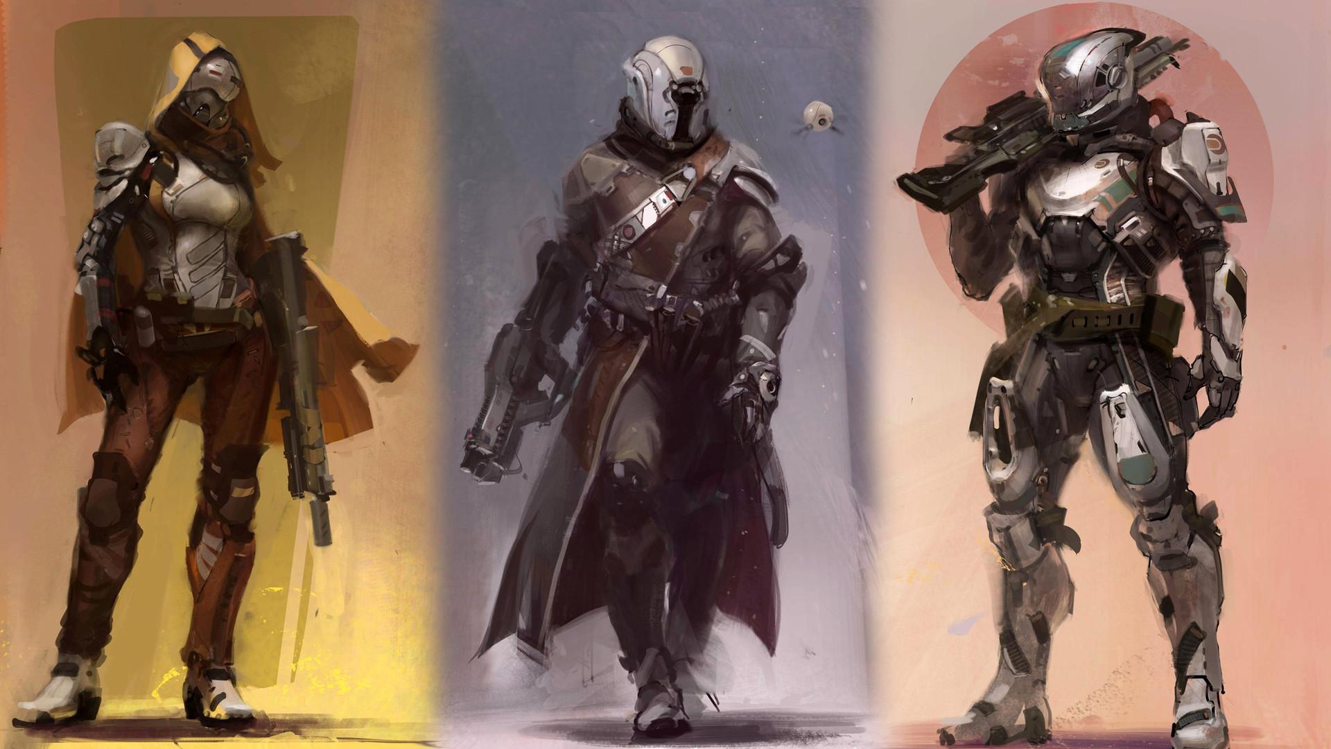 Guardian classes Hunter, Titan and Warlock
