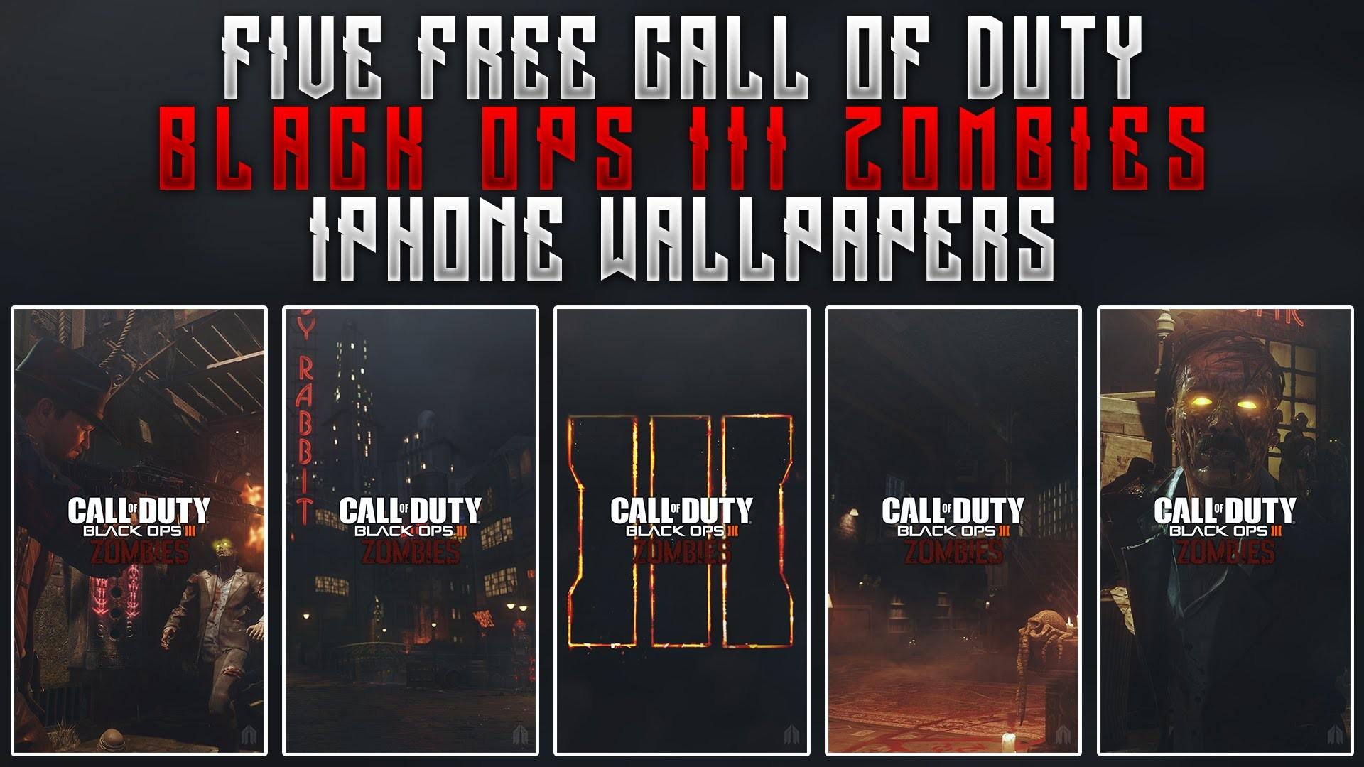 GFX Black Ops III Zombie iPhone Wallpaper Designs Free Wallpaper Pack –  YouTube