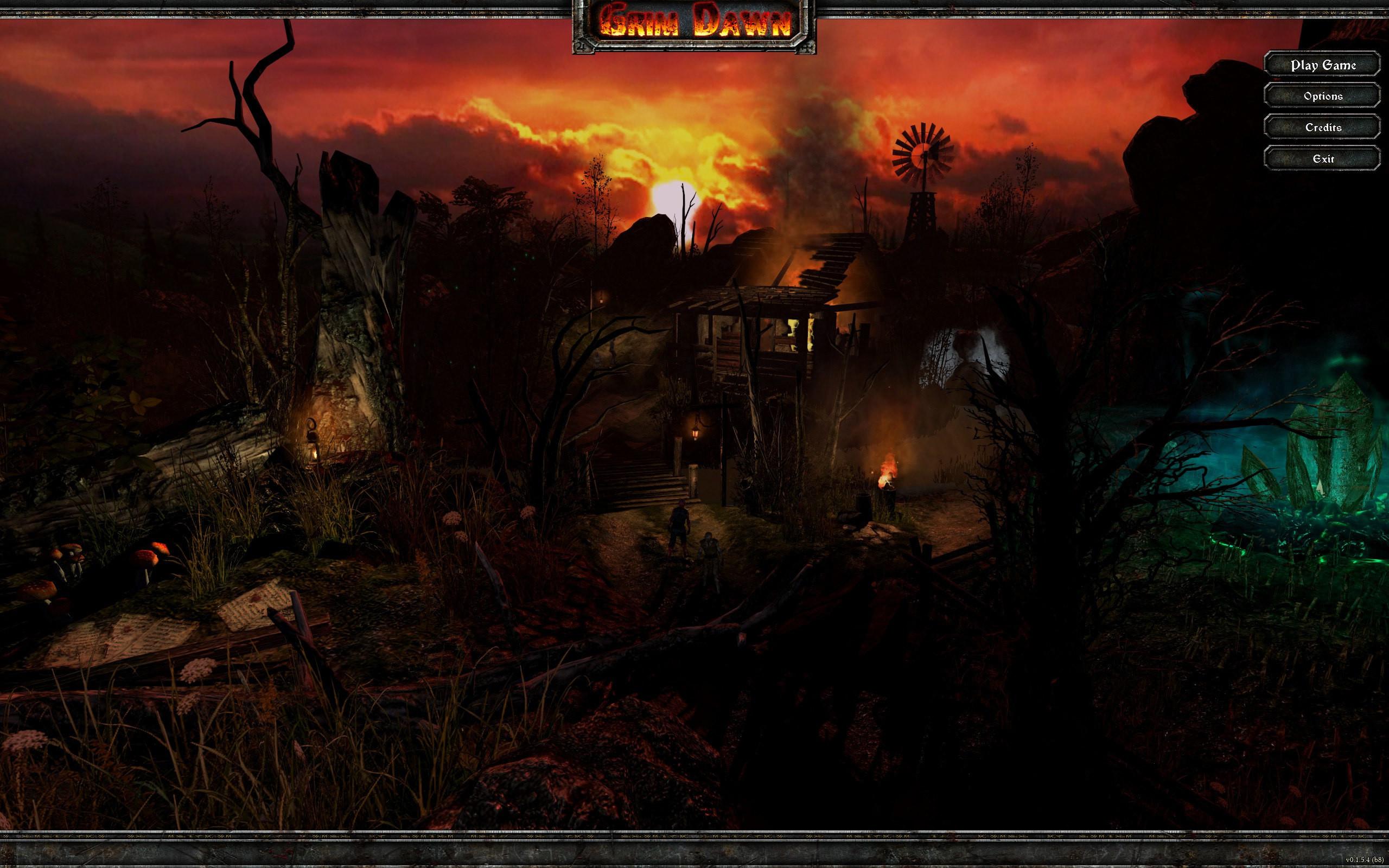 Grim Dawn main menu