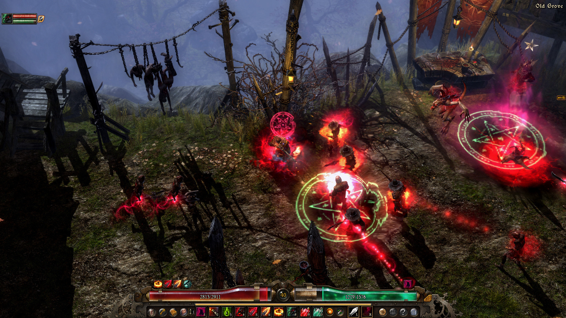 … to old grove with B25 grim dawn,but someone manage to.Is it developers  show us old grove or someone using bugs to access to old grove.