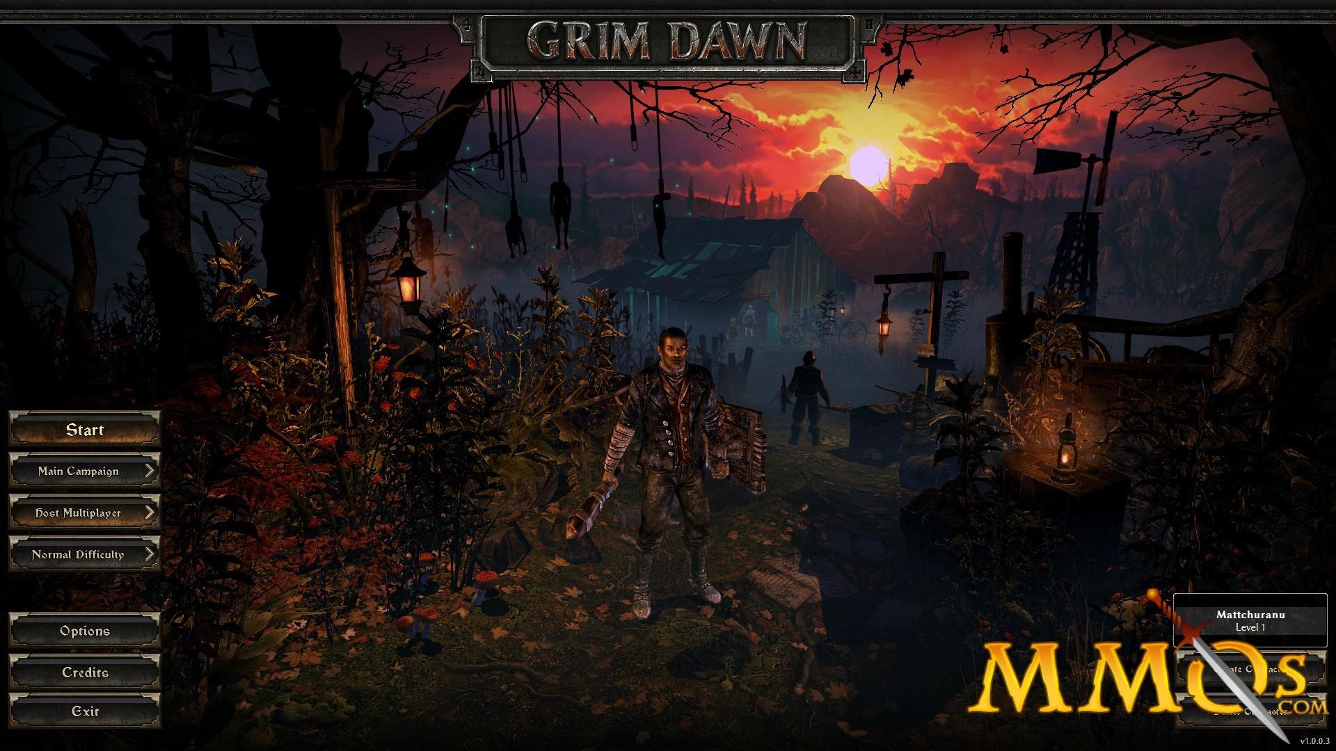 grim dawn title screen