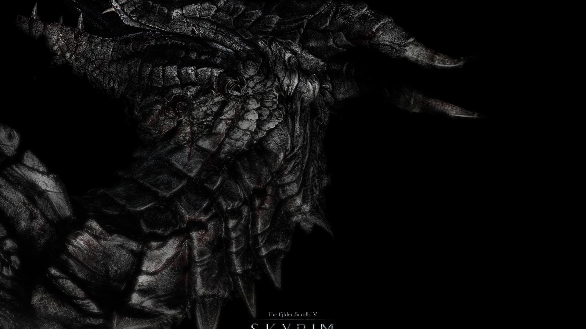 … Background Full HD 1080p. Wallpaper dragon, skyrim, the elder  scrolls v skyrim