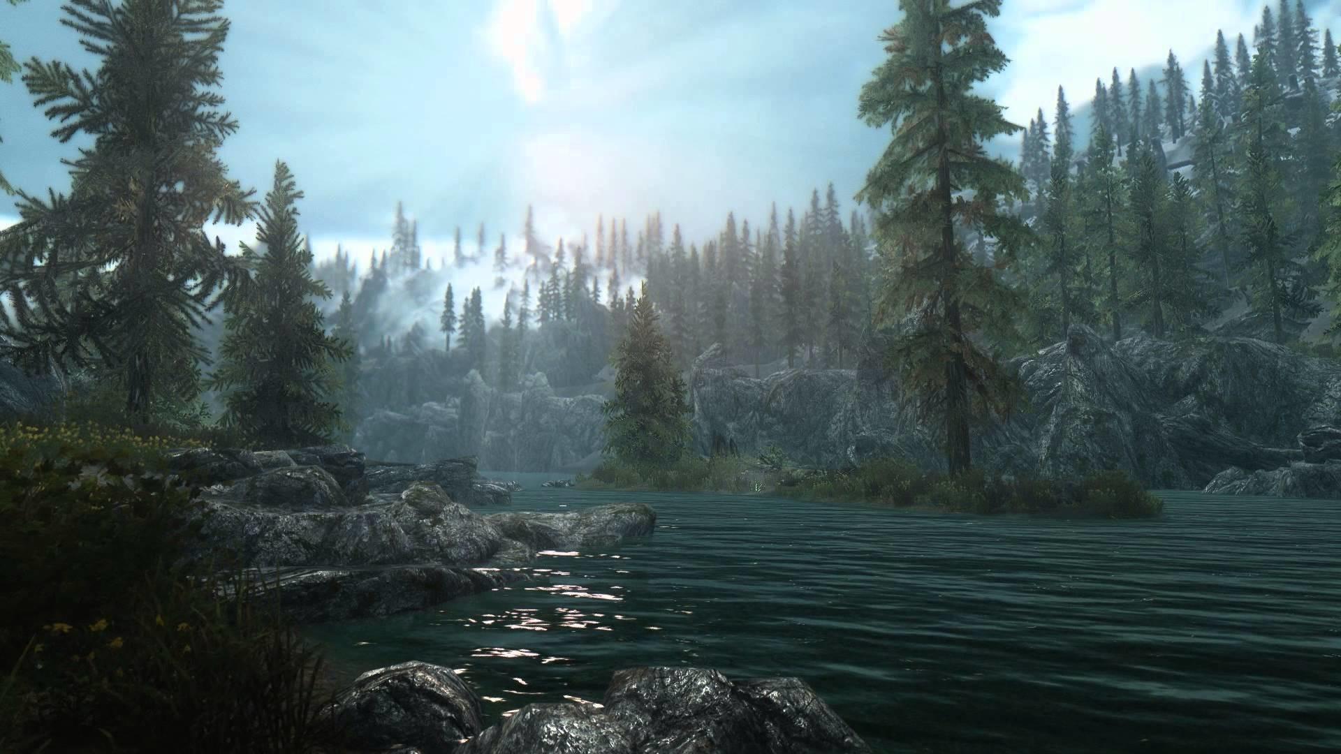 Elder Scrolls V Skyrim – Heavily Modded Scene 2 – [Live Wallpaper] – (1080p)  – YouTube
