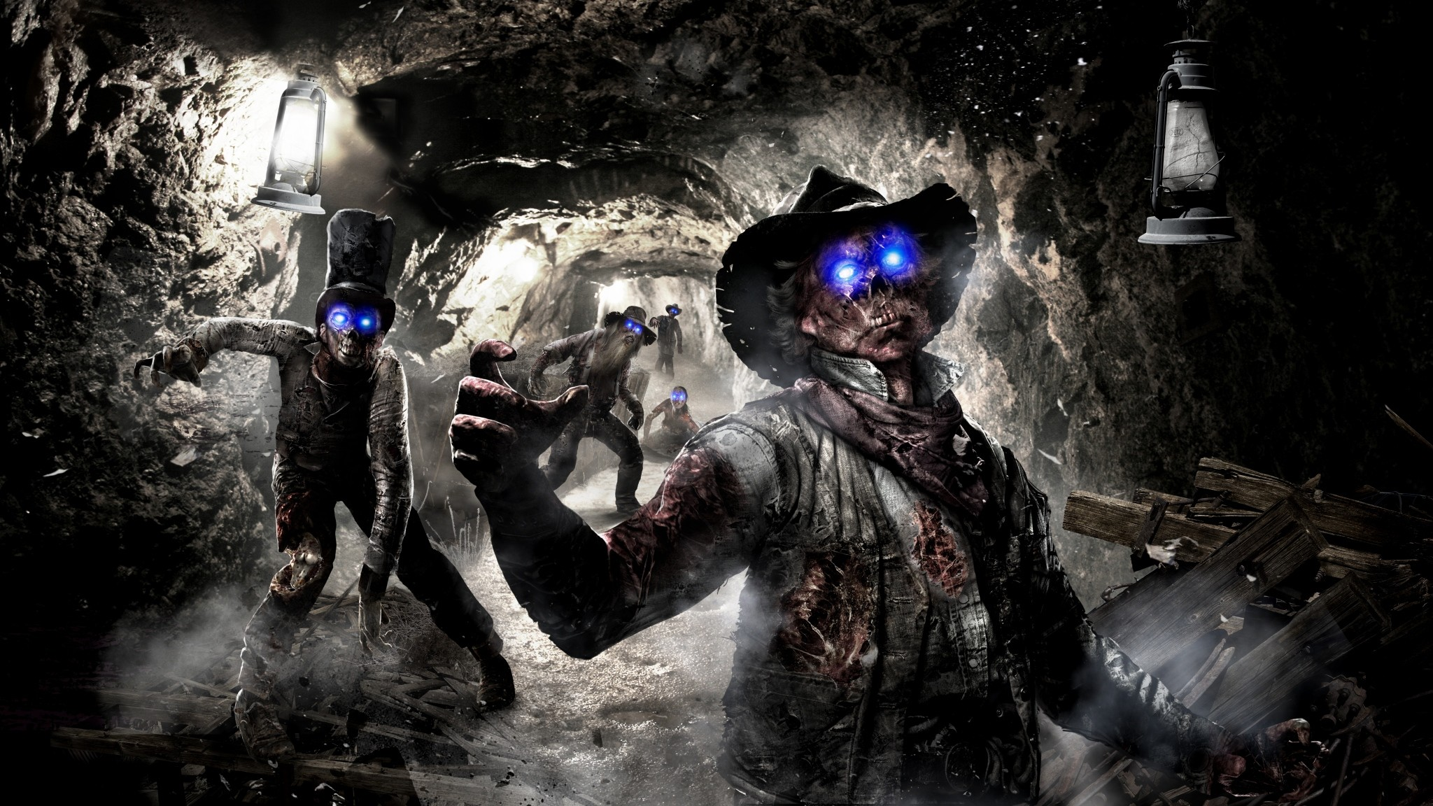Preview wallpaper call of duty, black ops 2, art, zombie 2048×1152