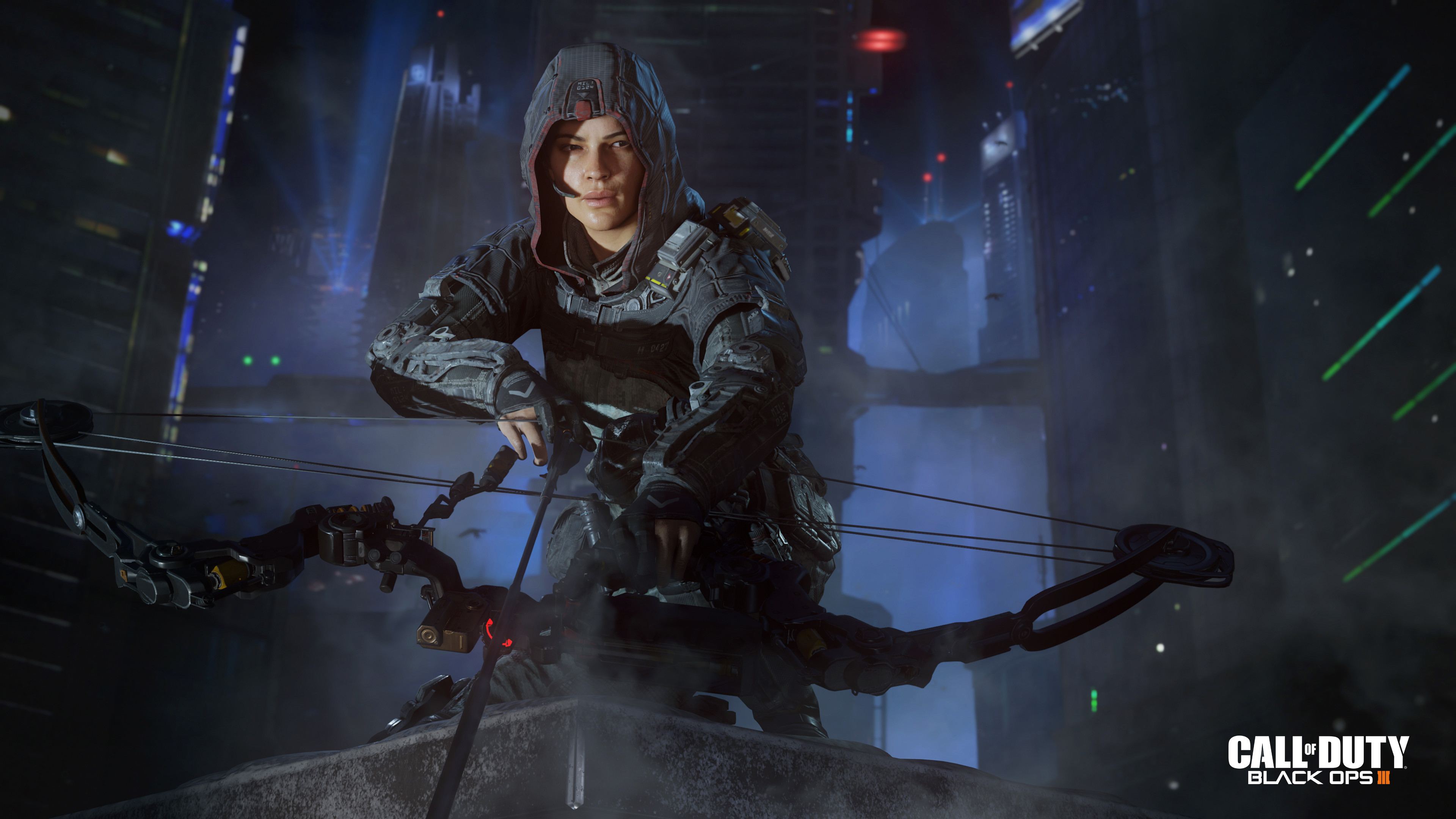 Preview wallpaper call of duty, black ops iii, alessandra castillo,  outrider 3840×2160