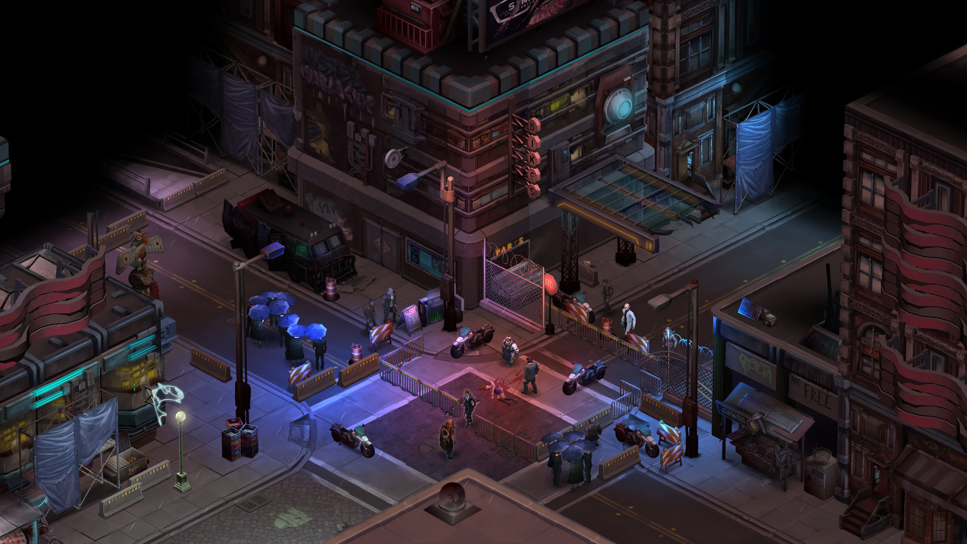 Though technically simple, Shadowrun Returns is a looker, with a subdued  atmosphere driven by