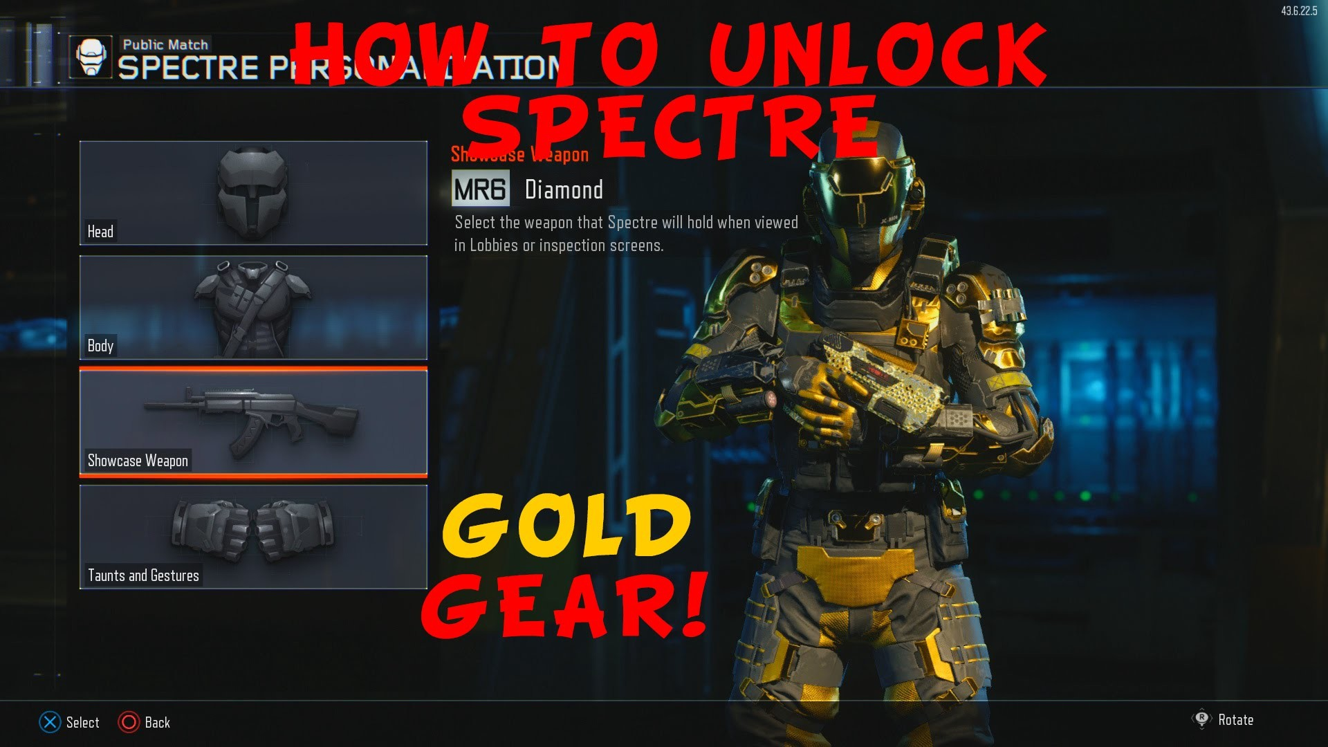Black Ops 3 – How to Unlock Spectre's Hero Gear (Spectre Gold Gear) –  YouTube