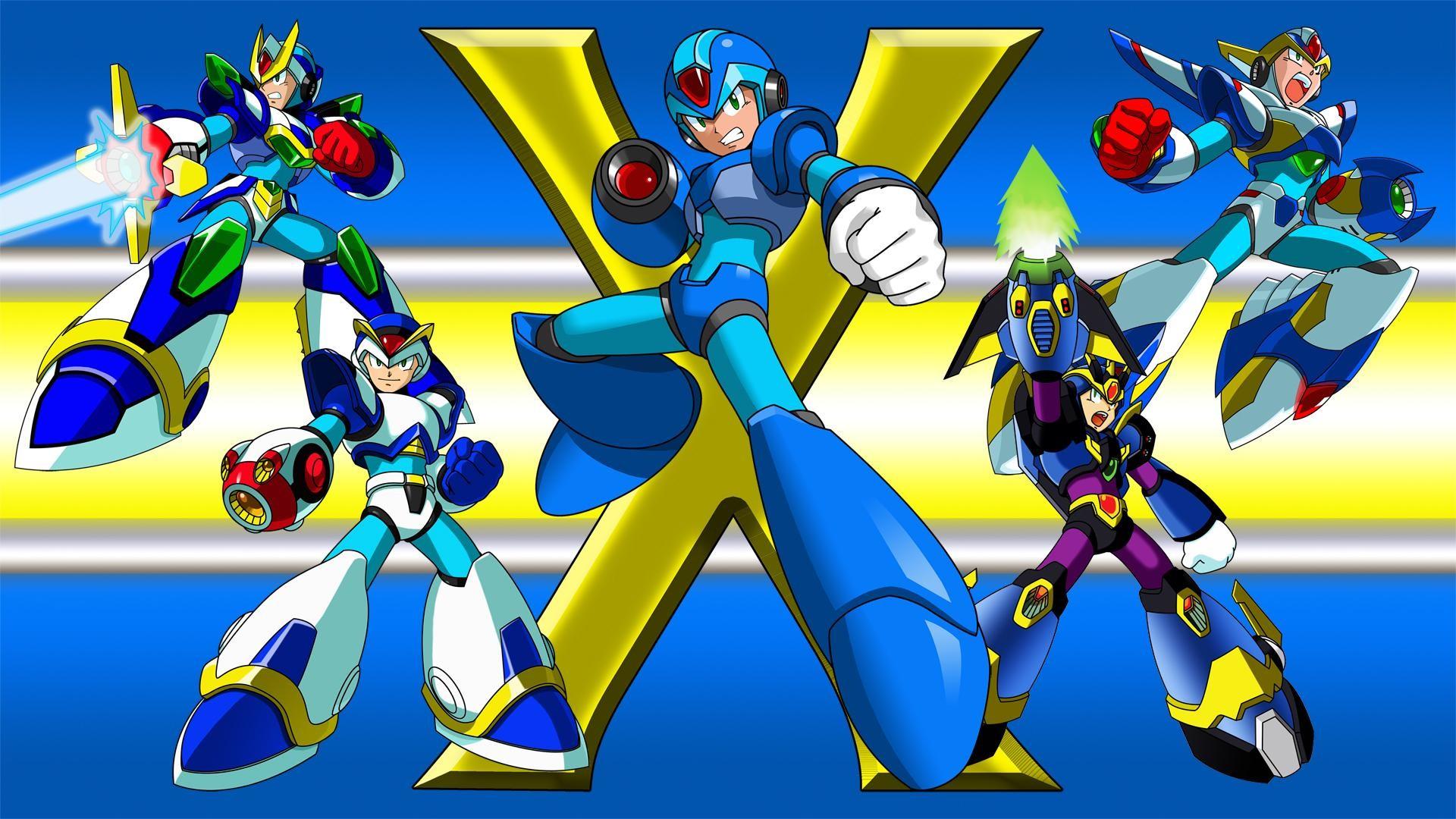 Mega Man X Armors wallpaper thumb