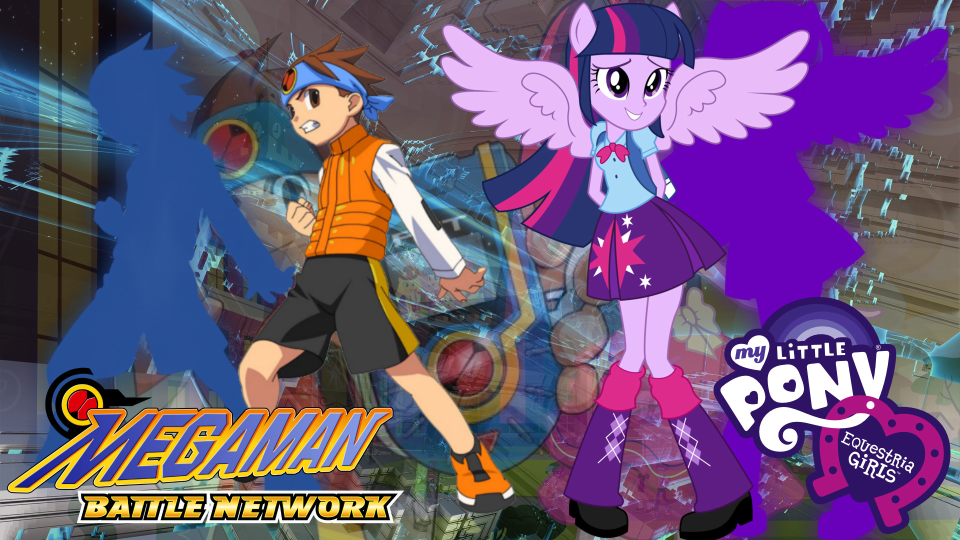 … Megaman Battle Network x MLP: Equestria Girls by Infantry00