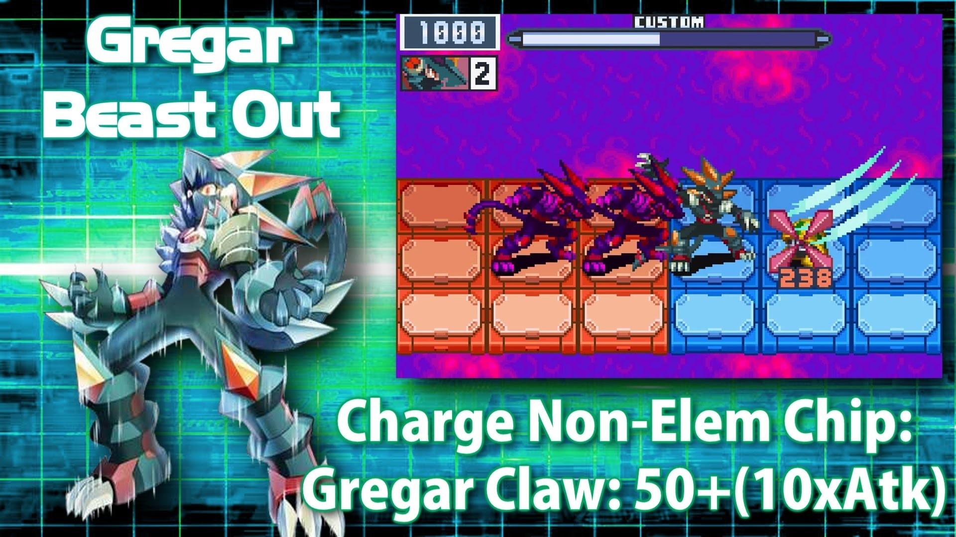 Mega Man Battle Network 6: Gregar Crosses & Beasts in 3 Minutes – YouTube