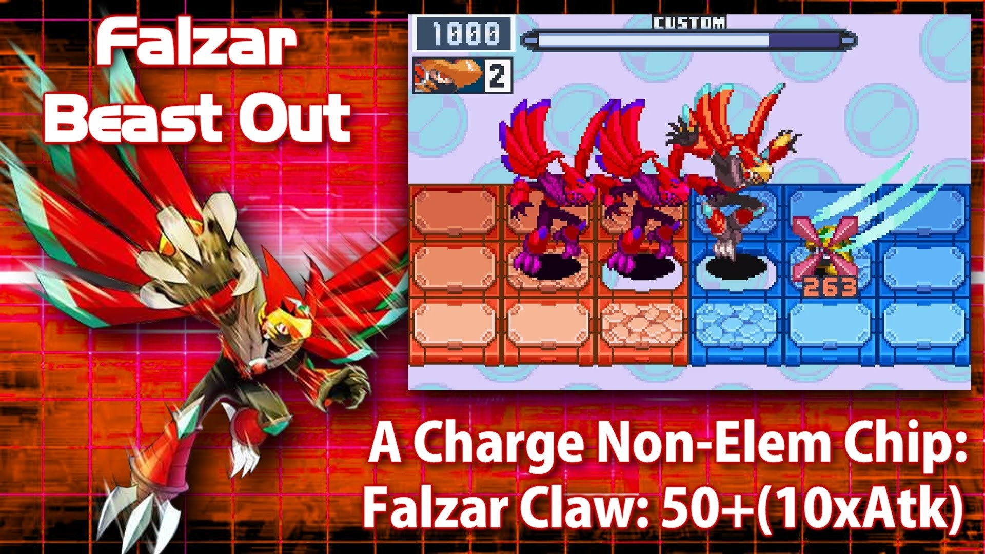 Mega Man Battle Network 6: Falzar Crosses & Beasts in 3 Minutes – YouTube