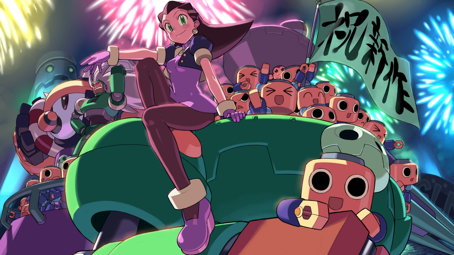 One of the less well-known characters from the Mega Man games. She's a  robotics genius.