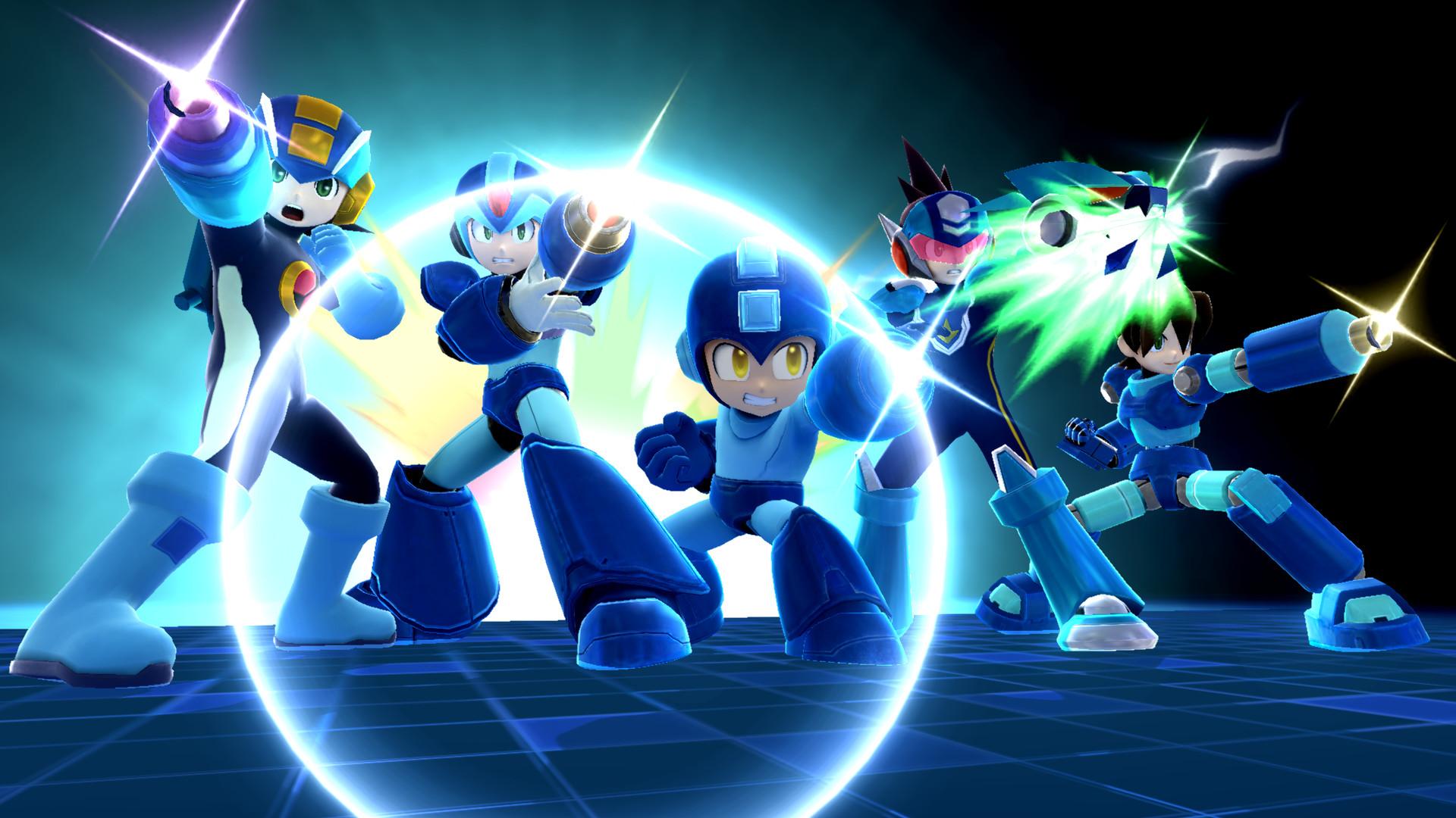 Mega Man using his Final Smash.