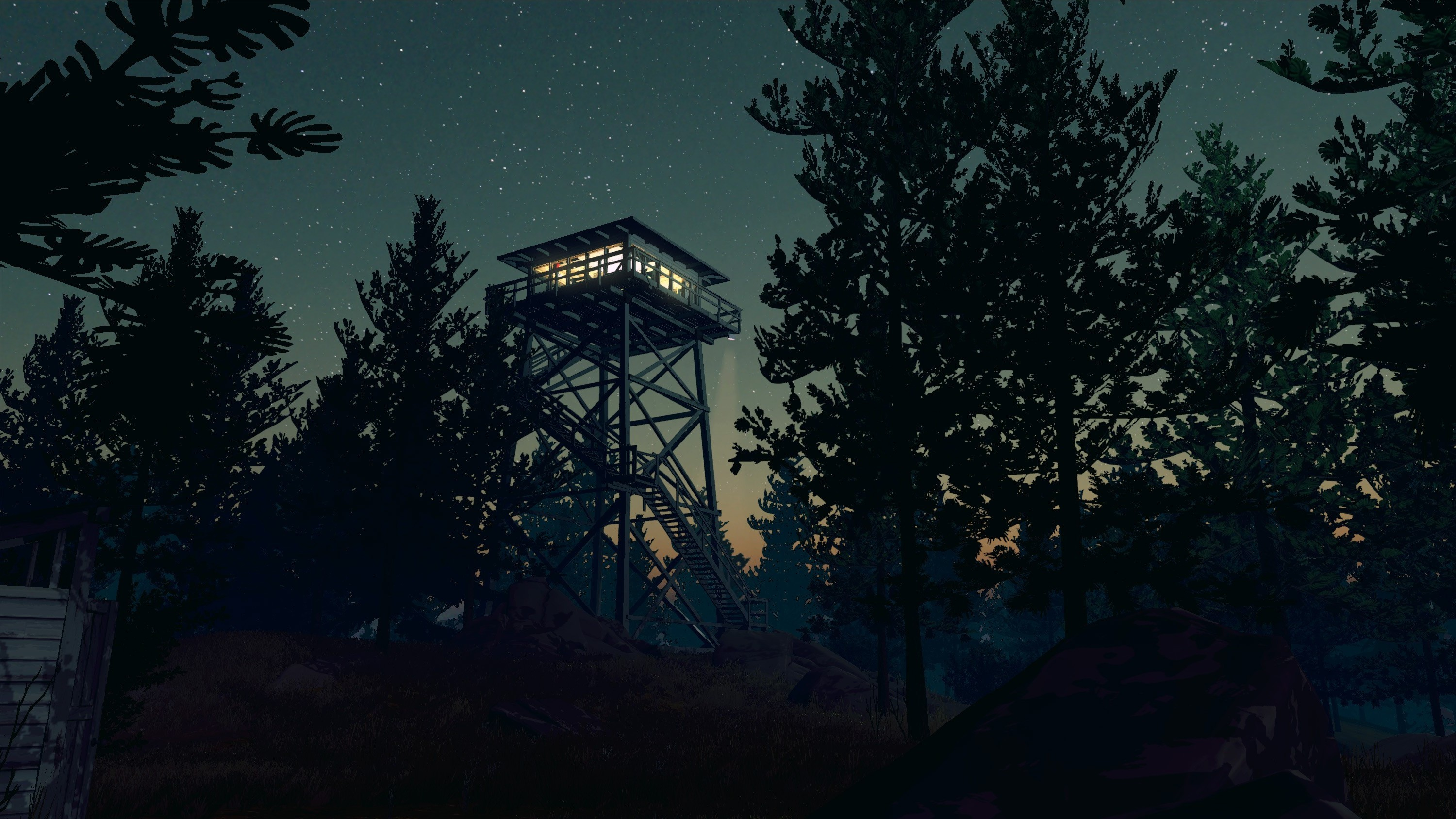 Firewatch, Video Games, Night, Forest, Trees, Stars Wallpapers HD / Desktop  and Mobile Backgrounds