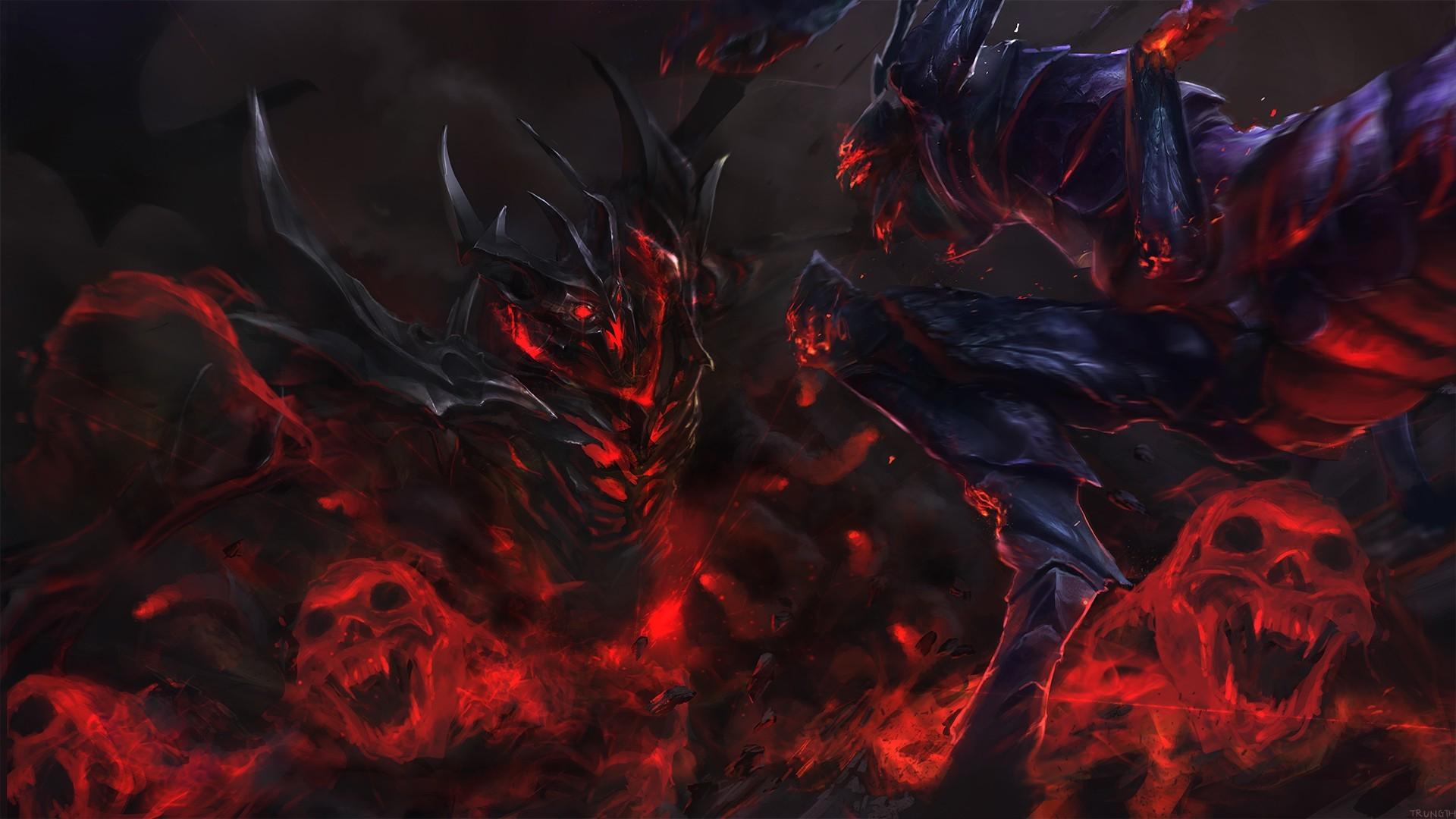 Elegant Fantasy Art Video Games Creature Shadow Demon Dota 2 Shadow