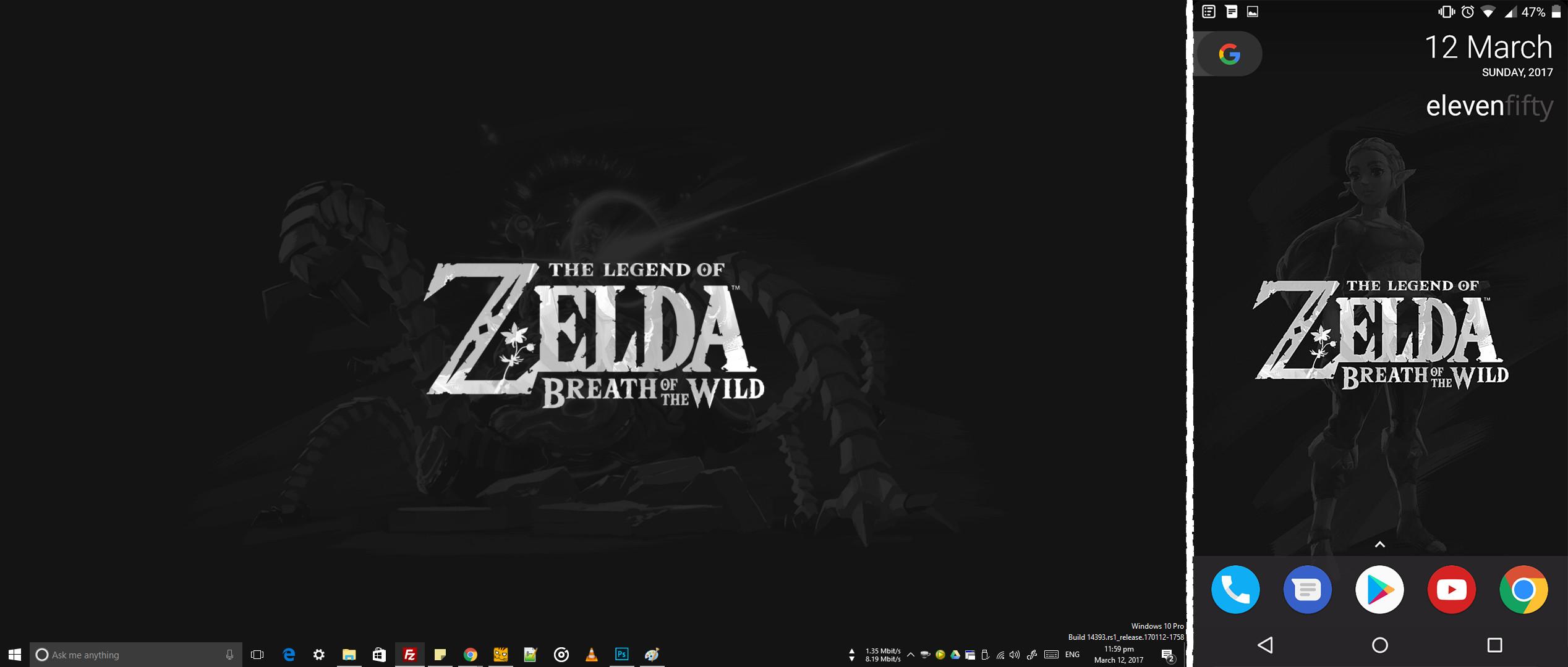 English Minimalist Zelda: BotW Wallpapers [1440p Desktop and 1080p Mobile]  …