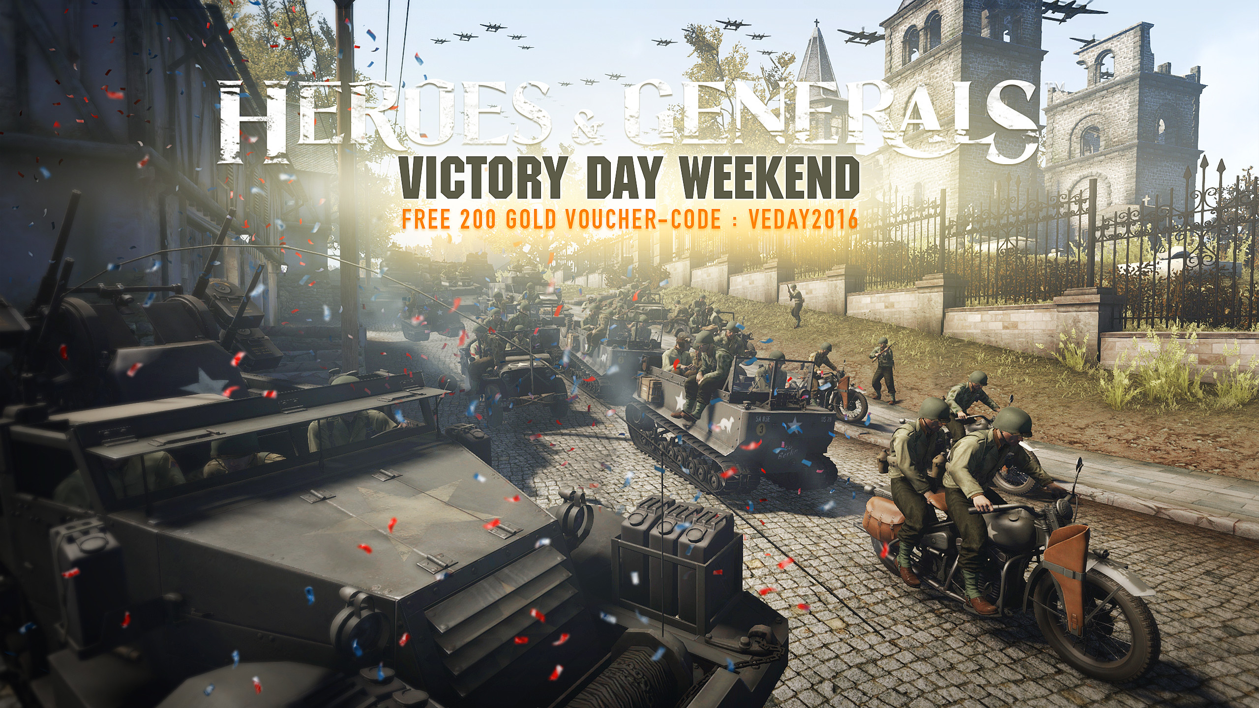 Free Gold to celebrate Victory Day Weekend