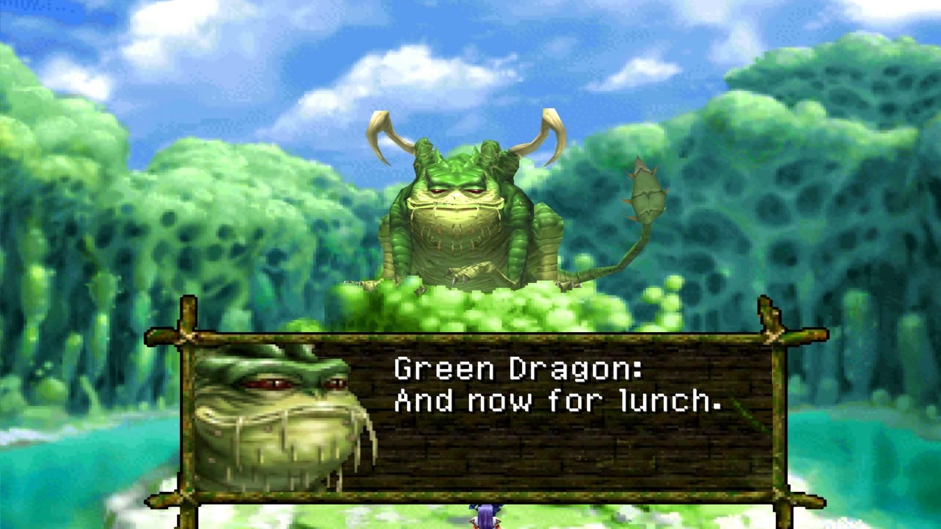 Chrono Cross Boss Tyrano And Green Dragon