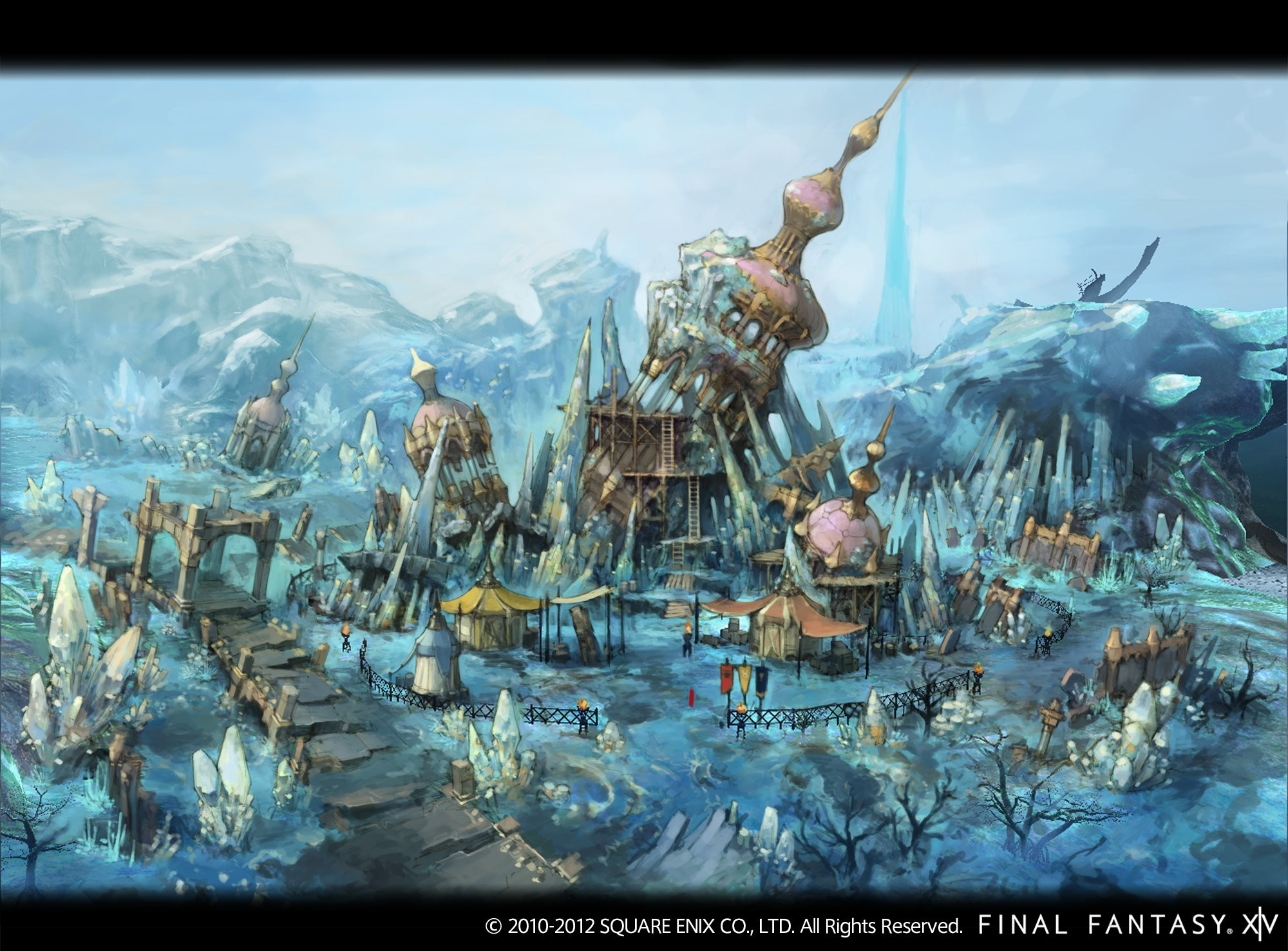 While those remind me of older FF games and even Chrono cross with the  frozen lake.