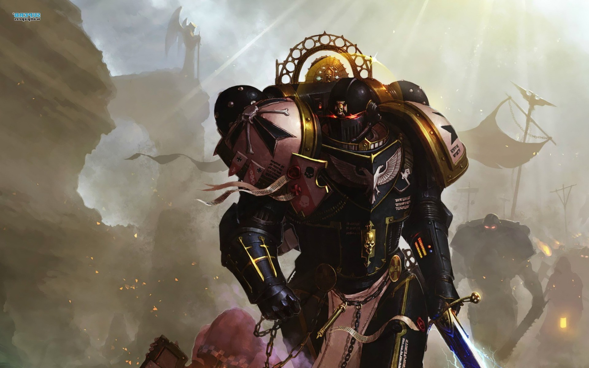 Warhammer 40000, Space Marines, Sword, Black Templars Wallpapers HD /  Desktop and Mobile Backgrounds