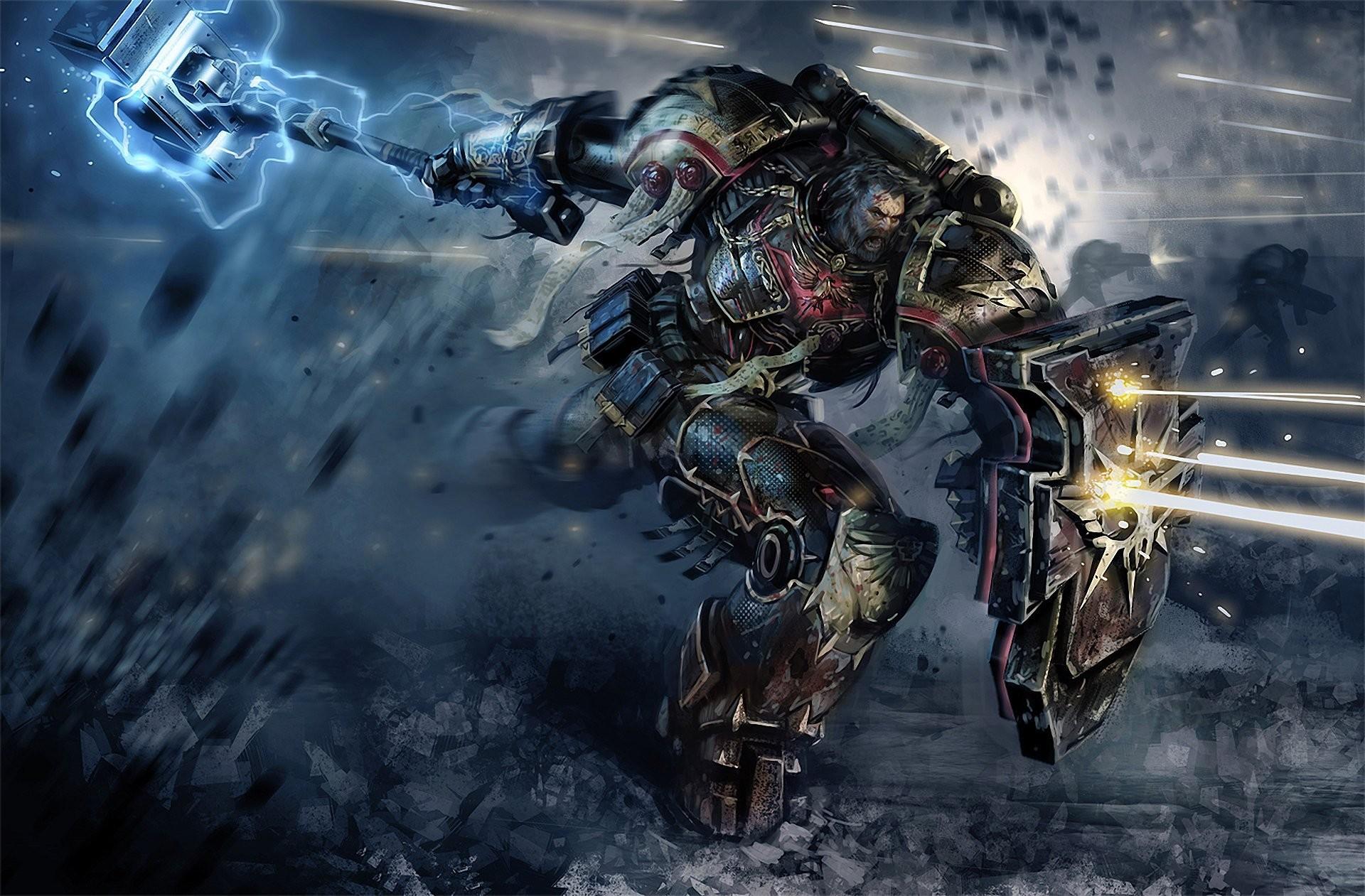 warhammer space marines warrior attack shots