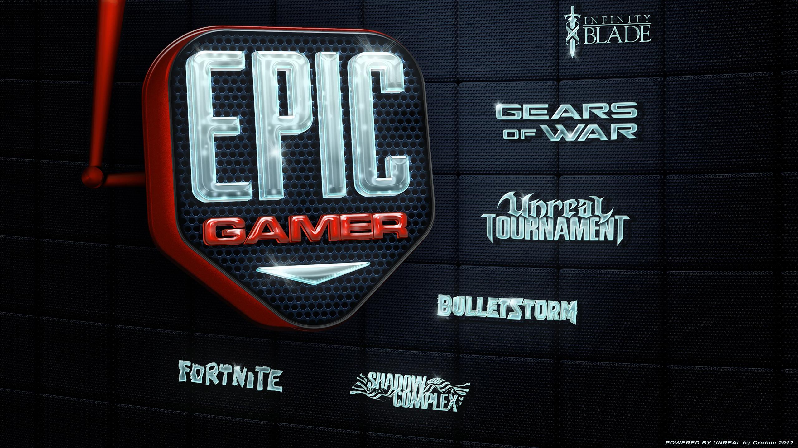 Epic Gamer Desktop Wallpaper by Crotale 2560 × 1440