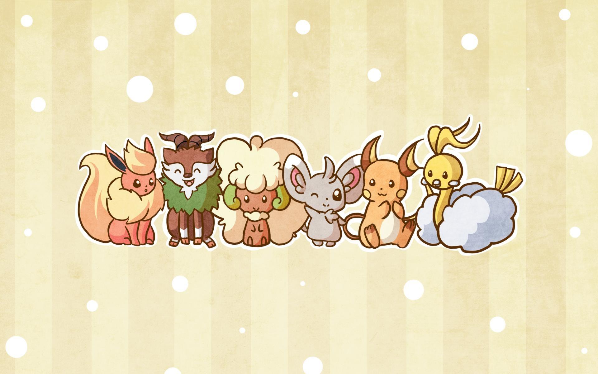 [ART] My cute and fluffy team wallpaper!