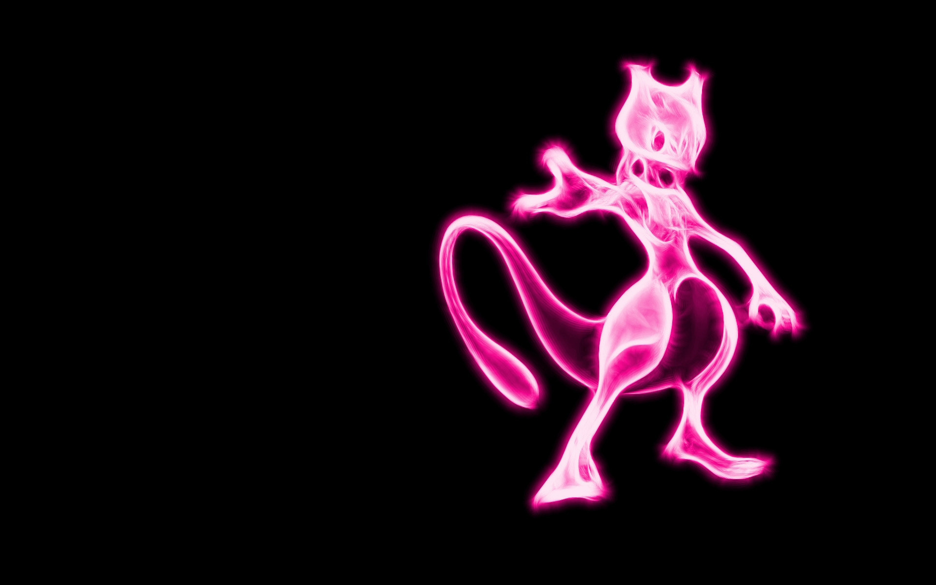 Cute Mewtwo Pokemon HD Wallpaper.