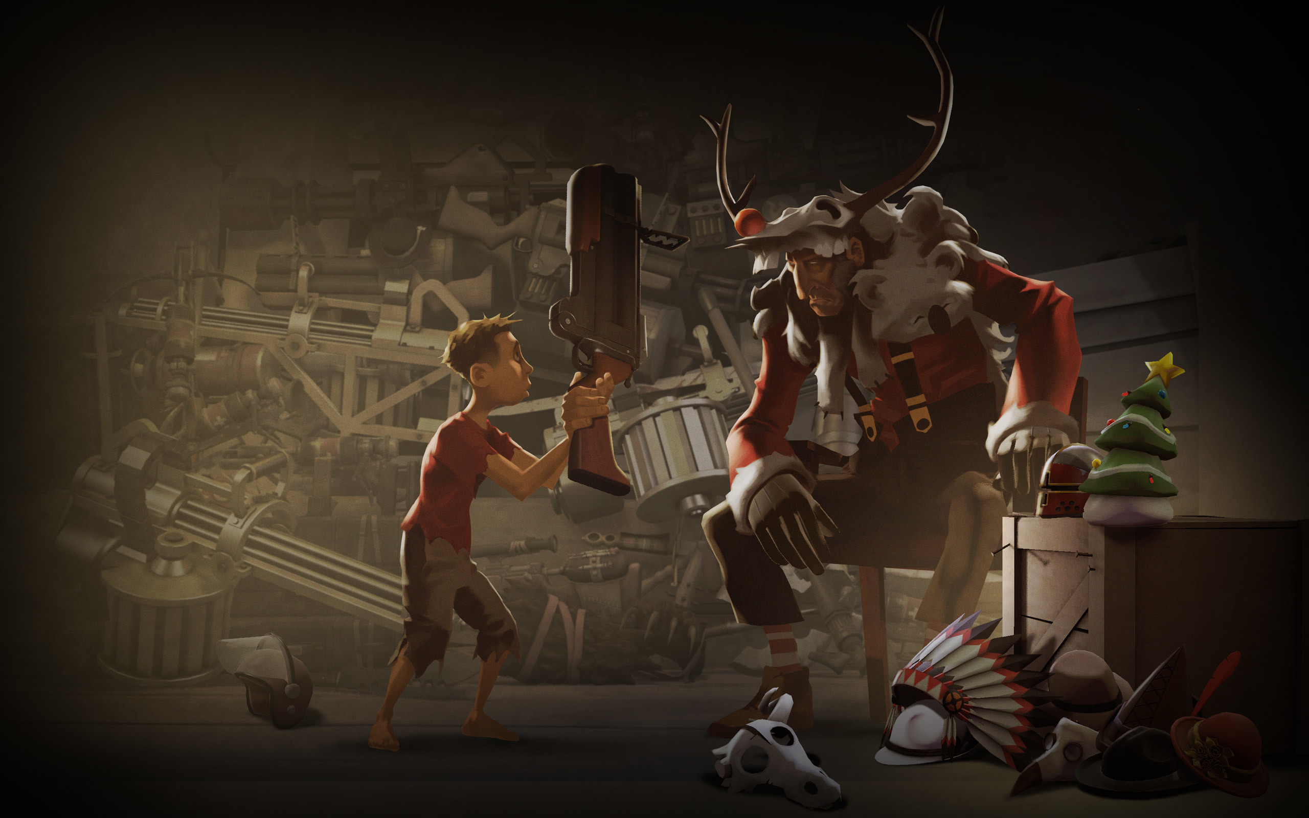 Download the Team Fortress Christmas Wallpaper, Team Fortress .