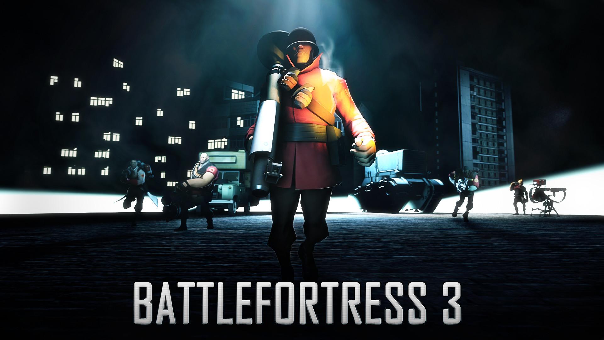 Preview wallpaper battlefortress 3, team fortress 2, battlefield, art  1920×1080