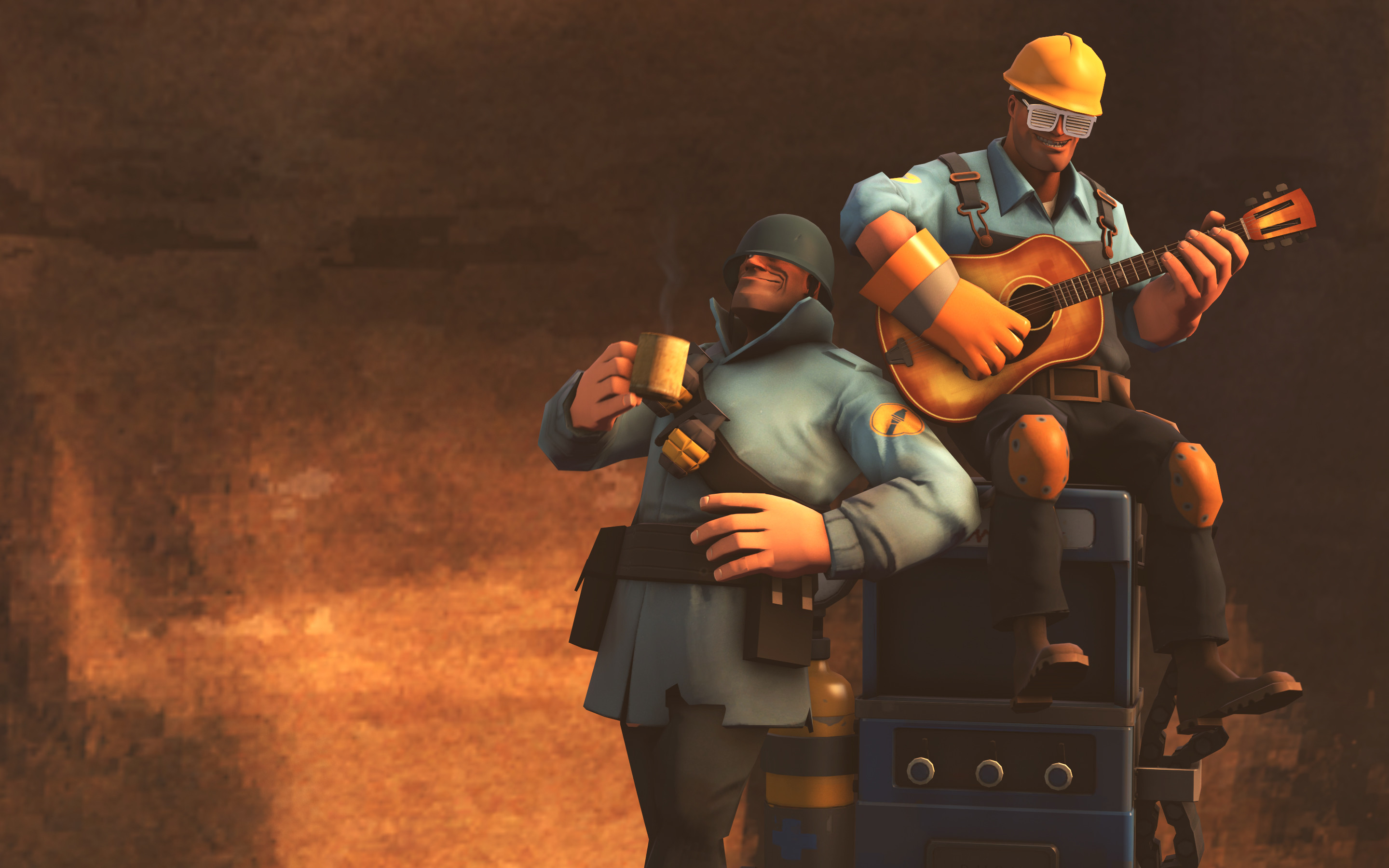 Team fortress 2 wallpaper soldier and engie chill wallpapers.