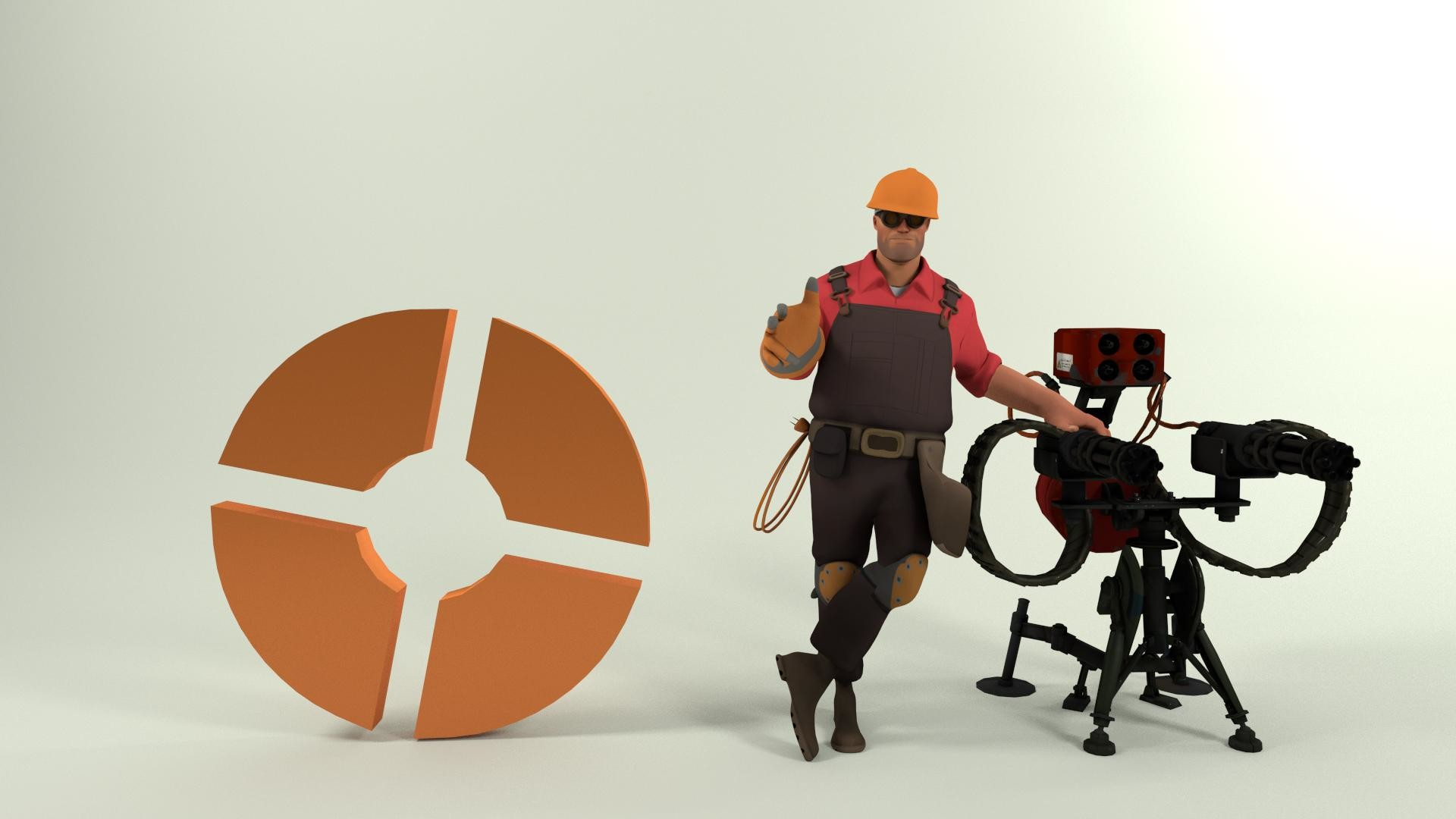 Wallpaper Team Fortress 2 Engineer