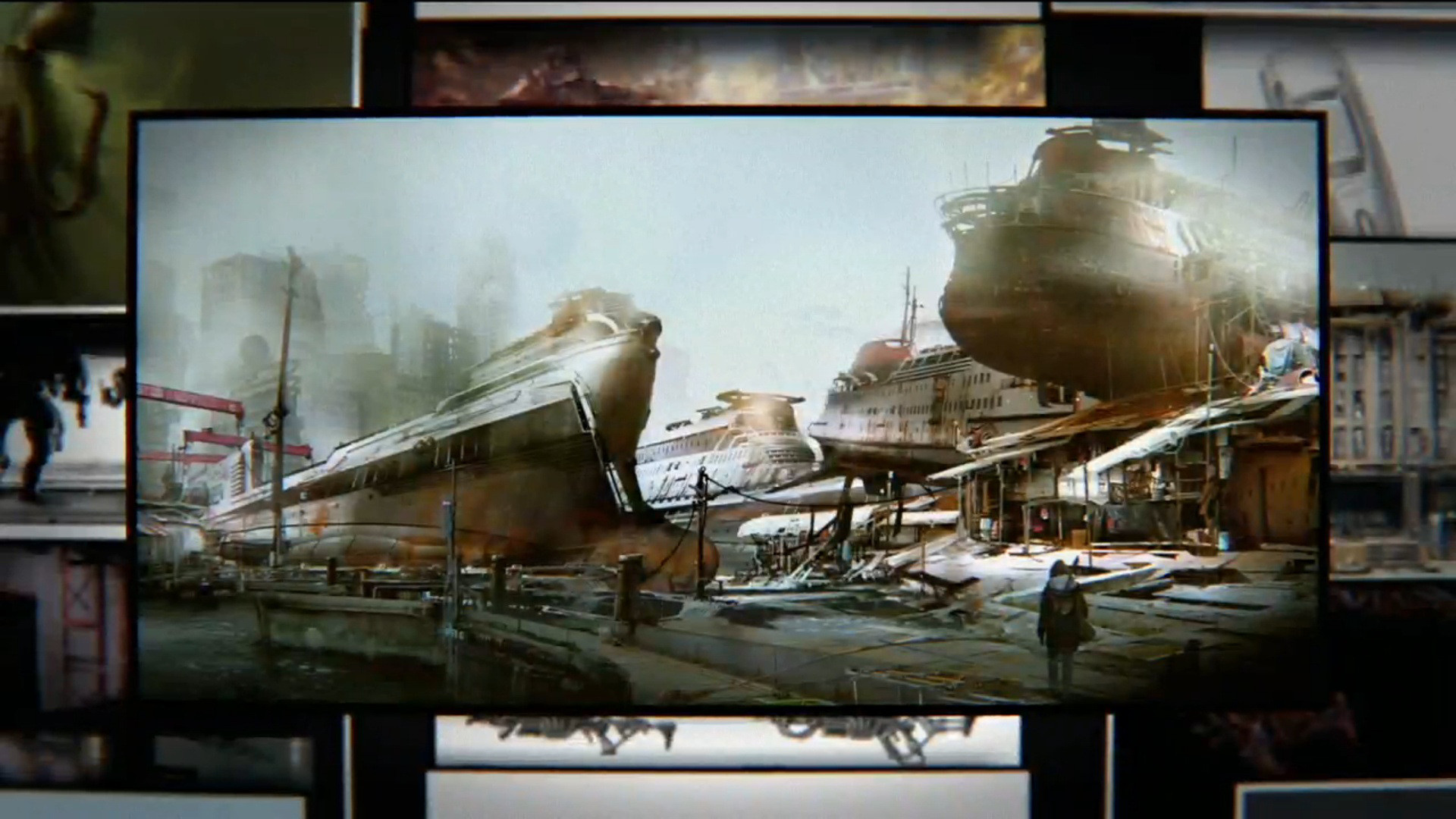 Fallout 4 Concept Art Screenshots from Bethesda Conference E3 2015 — Stock  Image