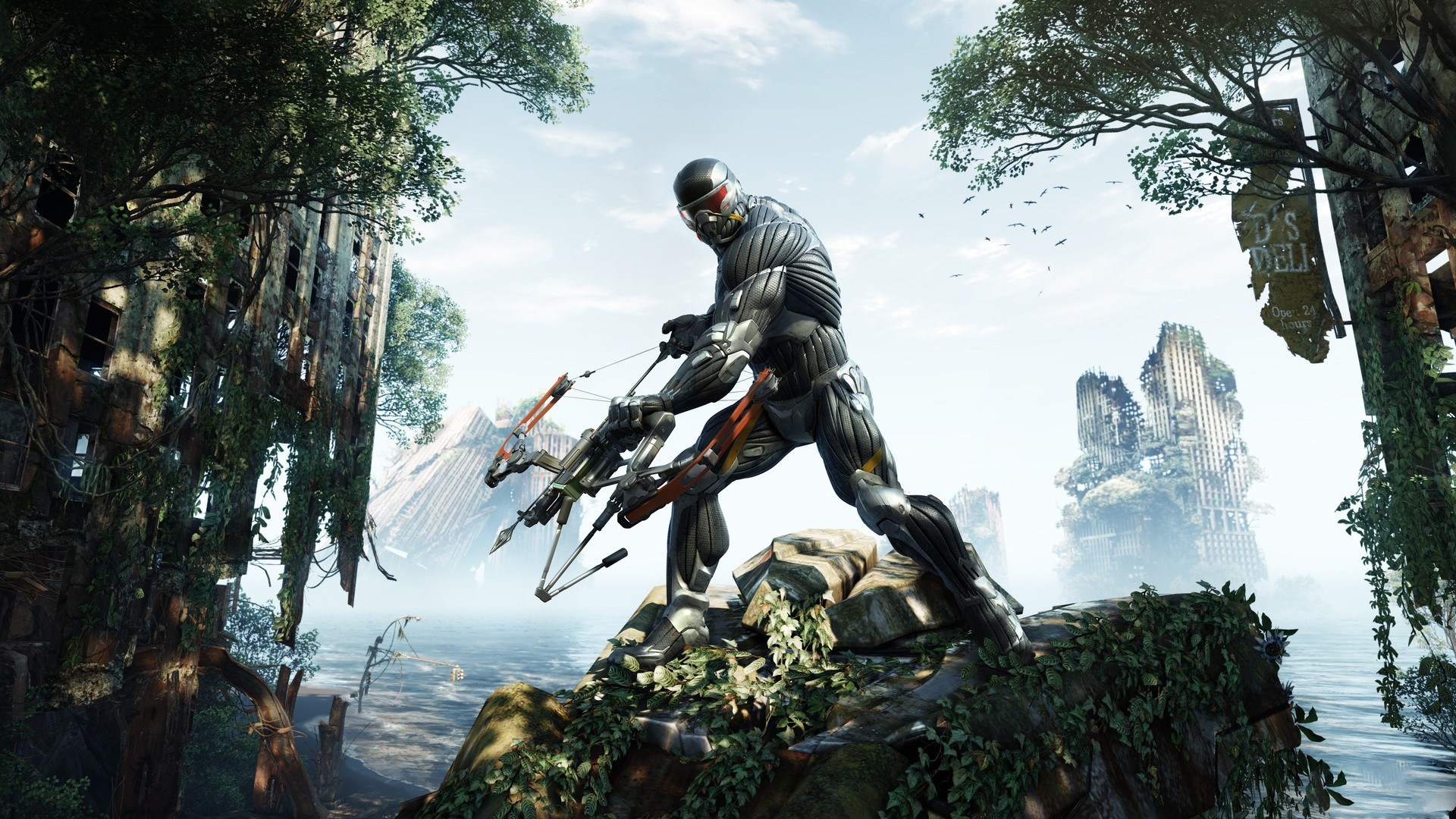 crysis 3 ruin forest prophet bow