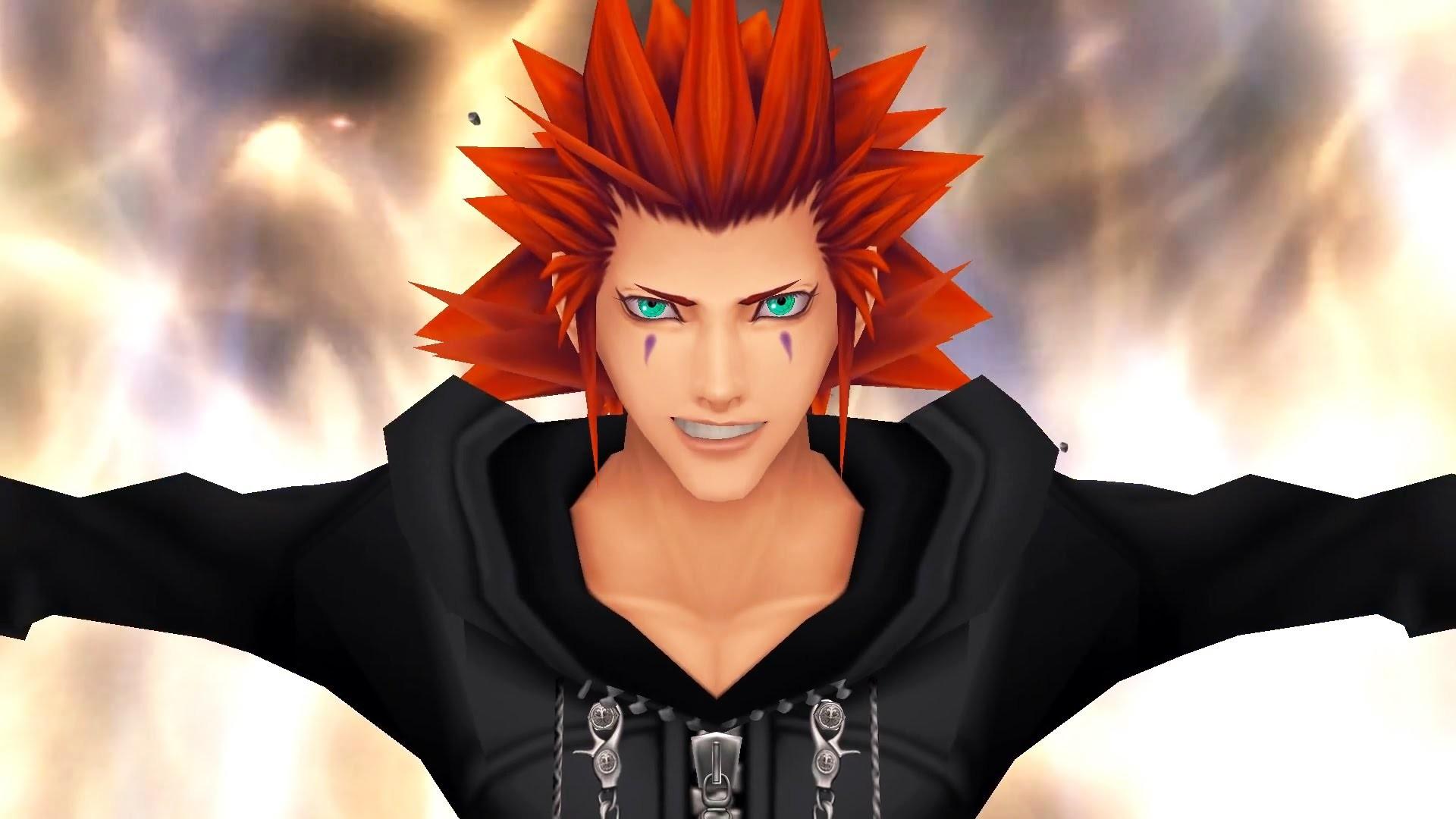 Kingdom Hearts 2: Roxas vs Axel Boss Fight (PS3 1080p)