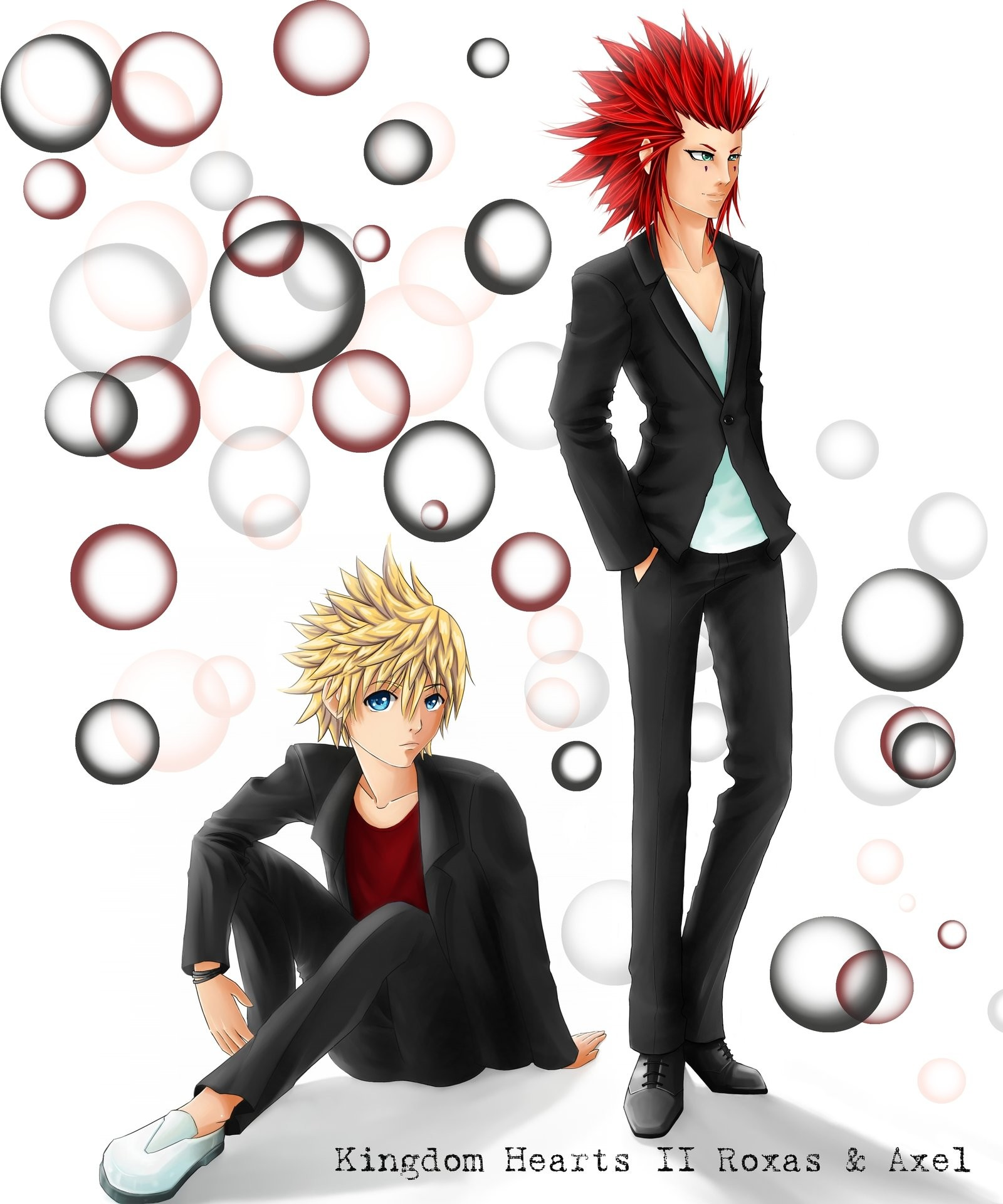 … SilverdragonAmai CP Kingdom Hearts II Roxas and Axel by SilverdragonAmai