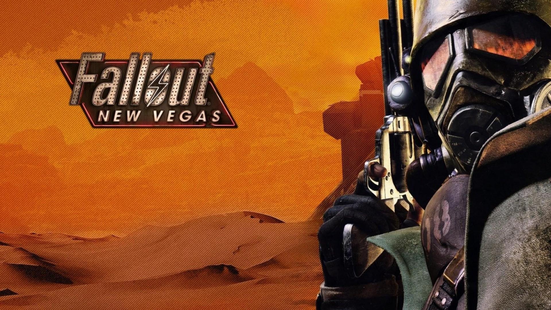 Wallpaper fallout new vegas, gun, art, ranger, desert