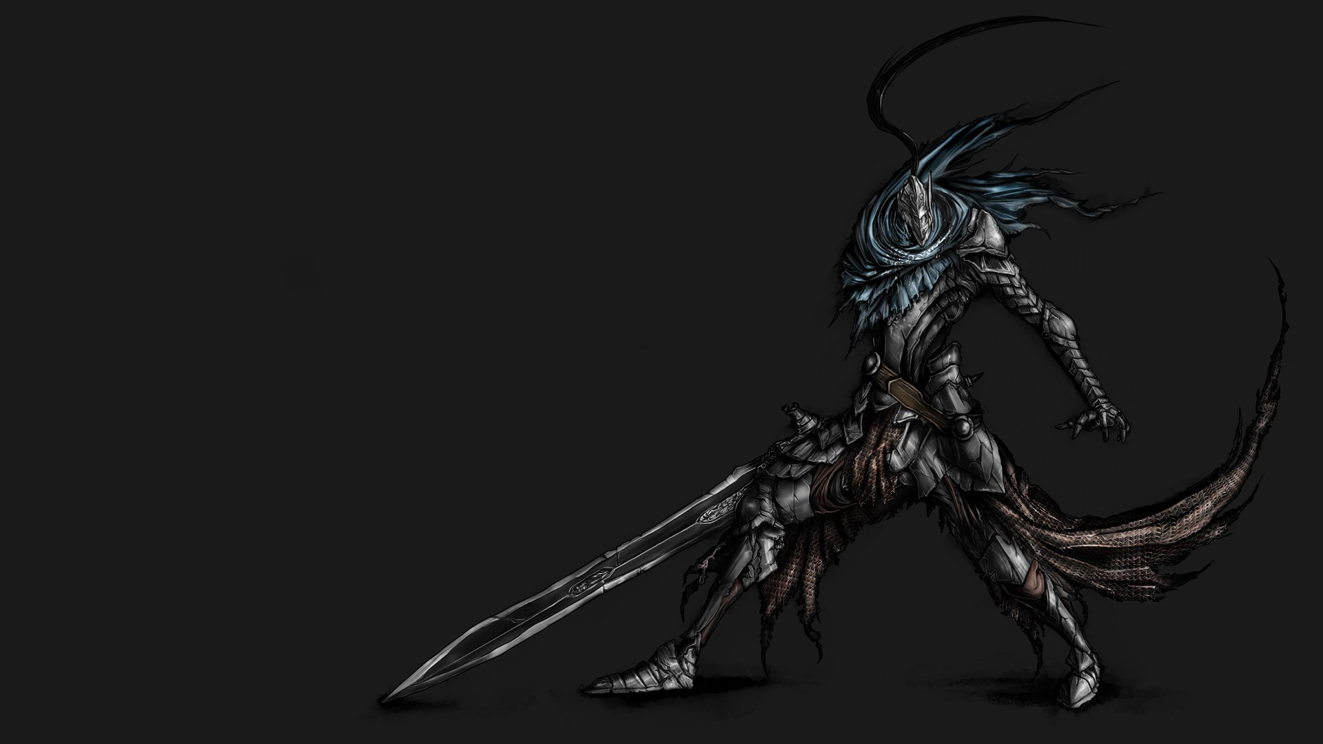 Animation Artorias The Abysswalker Dark Souls Helmets Masks Simple  Background Unrealistic Warriors Weapons …