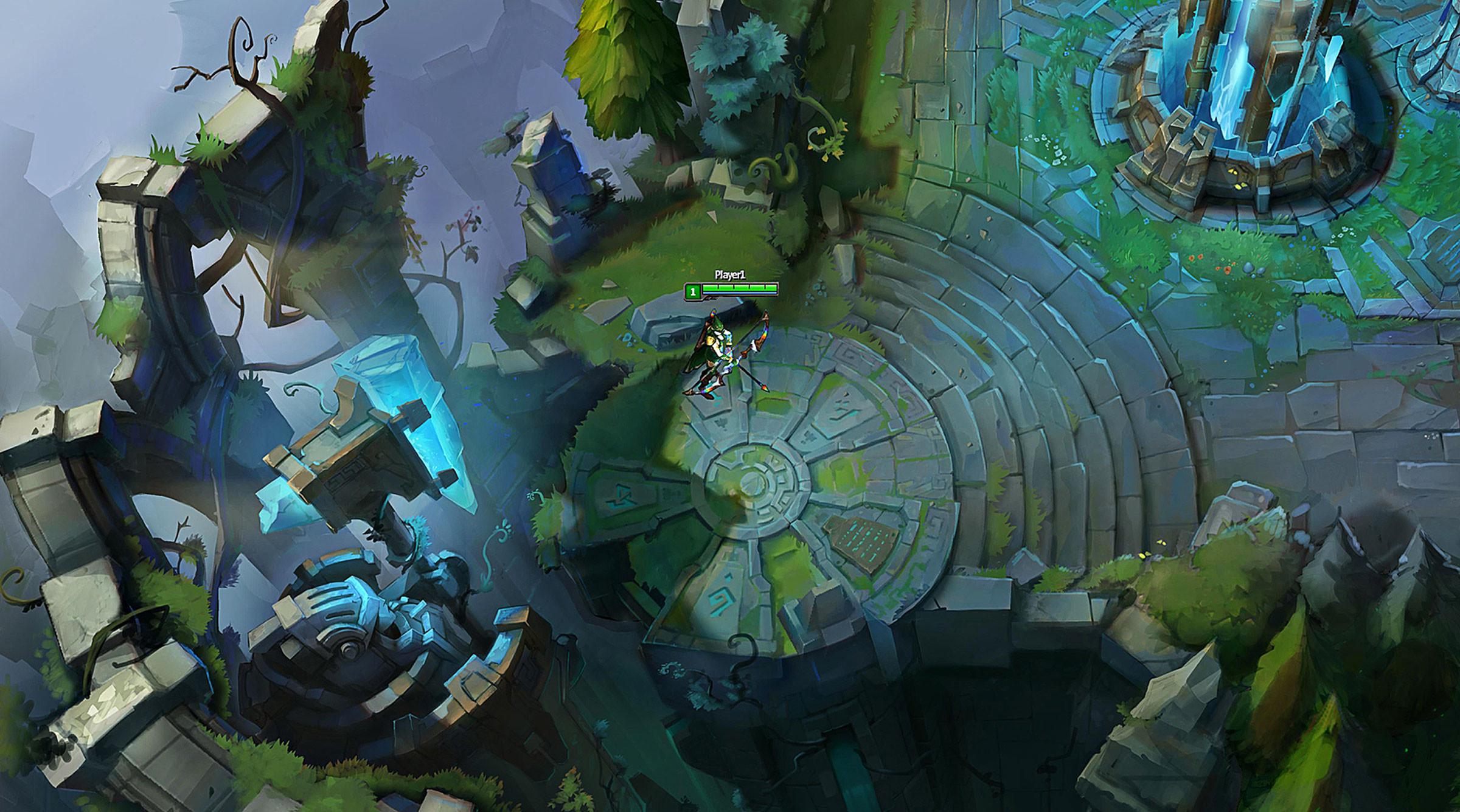 Summoners Rift Blue Base Concept Art (5) League of Legends Artwork Wallpaper  lol