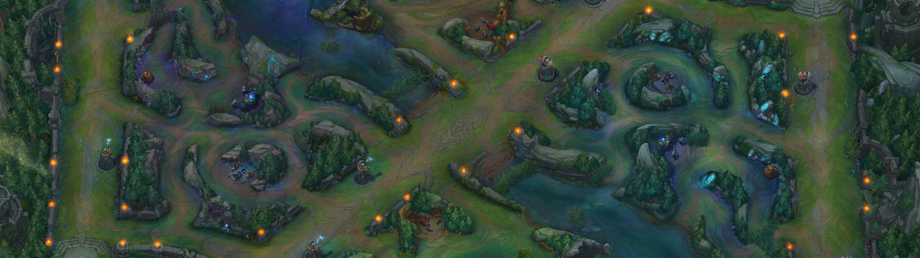 [3840×1080] League of Legends' Summoner's RiftDual …
