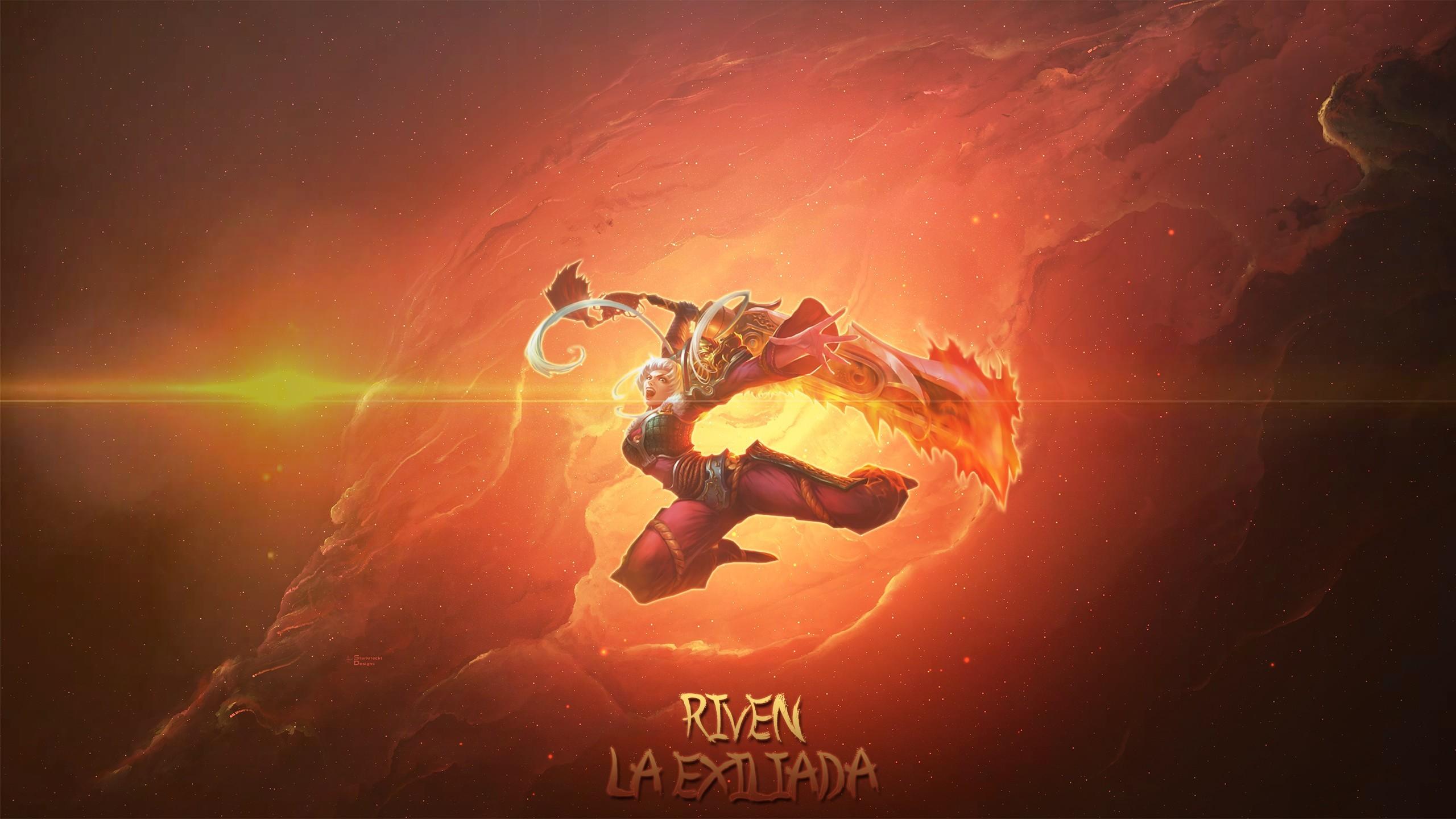 General Summoner's Rift Riven (League of Legends) solid color