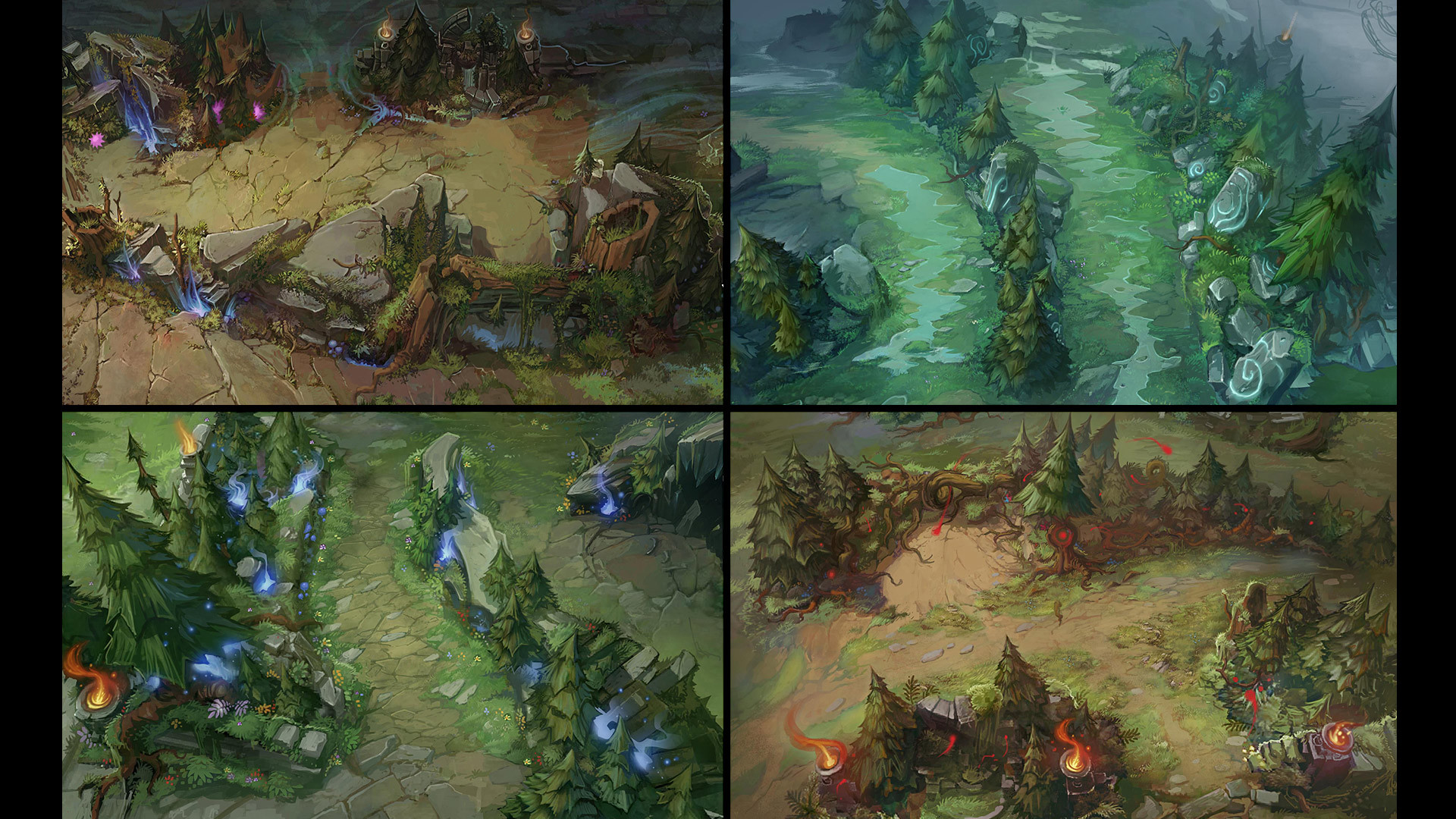 Check out some Summoner's Rift concept art!   League of Legends