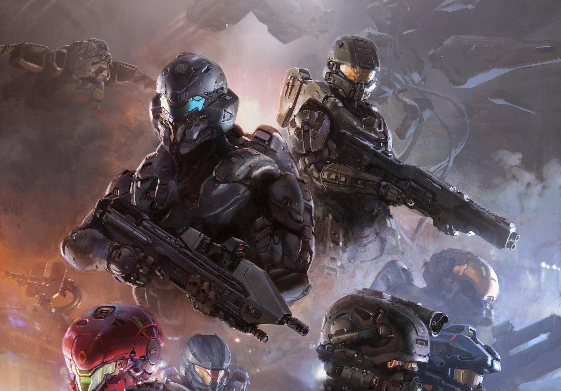 Video Game – Halo 5: Guardians Warrior Weapon Master Chief Armor Futuristic Halo  Wallpaper