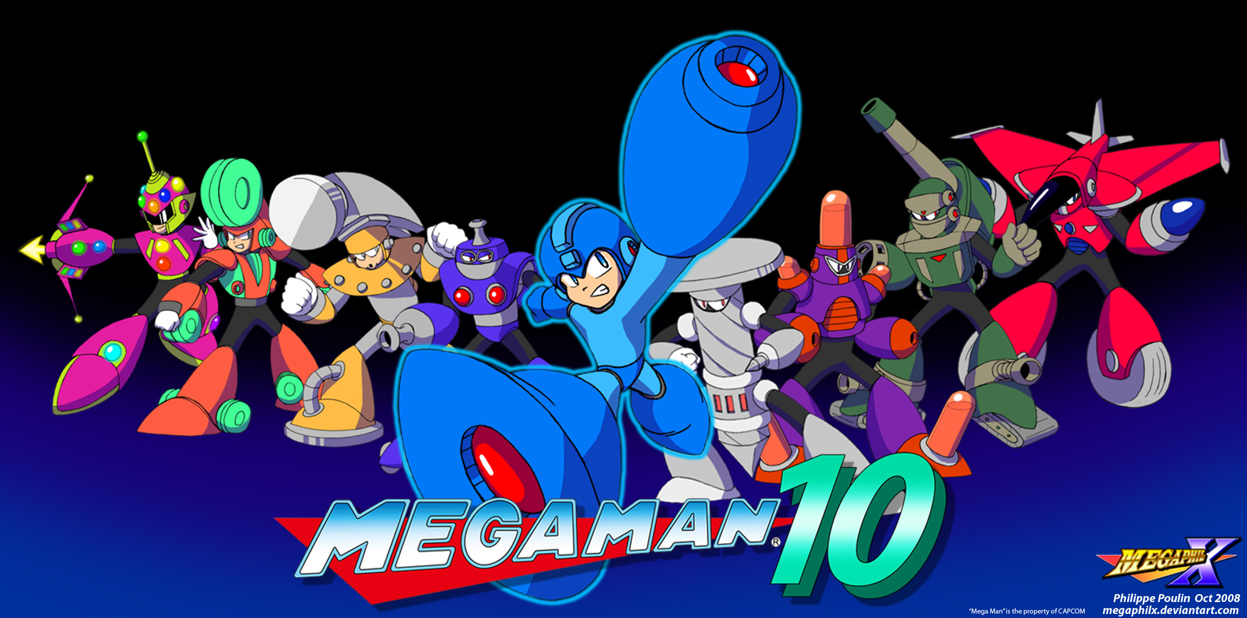 Megaman Unlimited started off as art I remade of my Robot Master designs I  made as a child and …