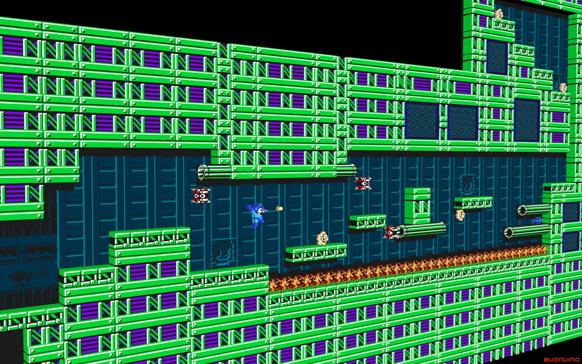 … 3D Mega Man by NES–still-the-best