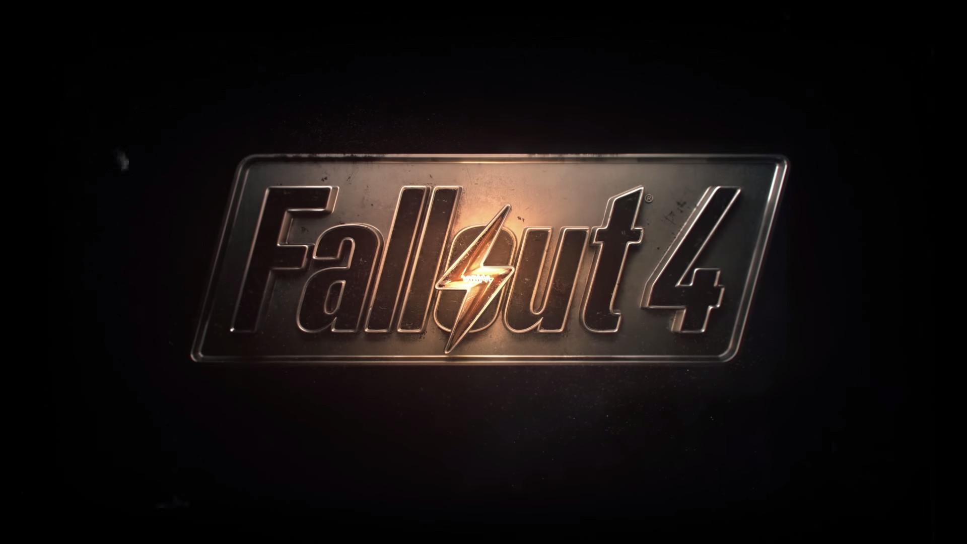 Fallout 4 logo wallpaper 1080p (For those who prefer a more minimal  wallpaper) …