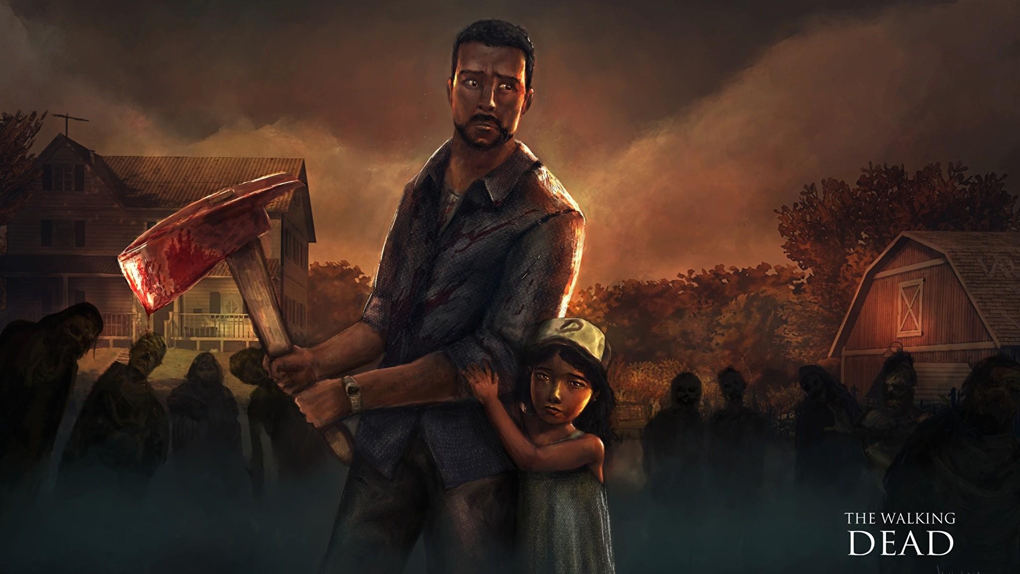 Images Little girls Battle axes Man The Walking Dead Games Men