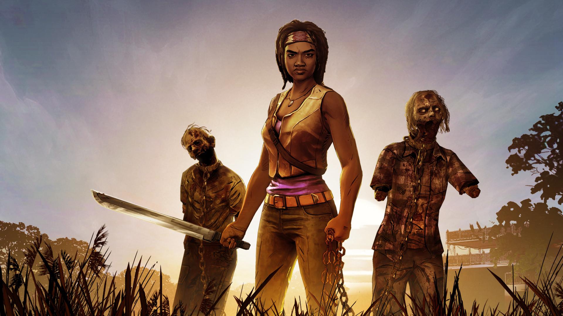 Wallpaper The walking dead, Michonne, A telltale games mini-series
